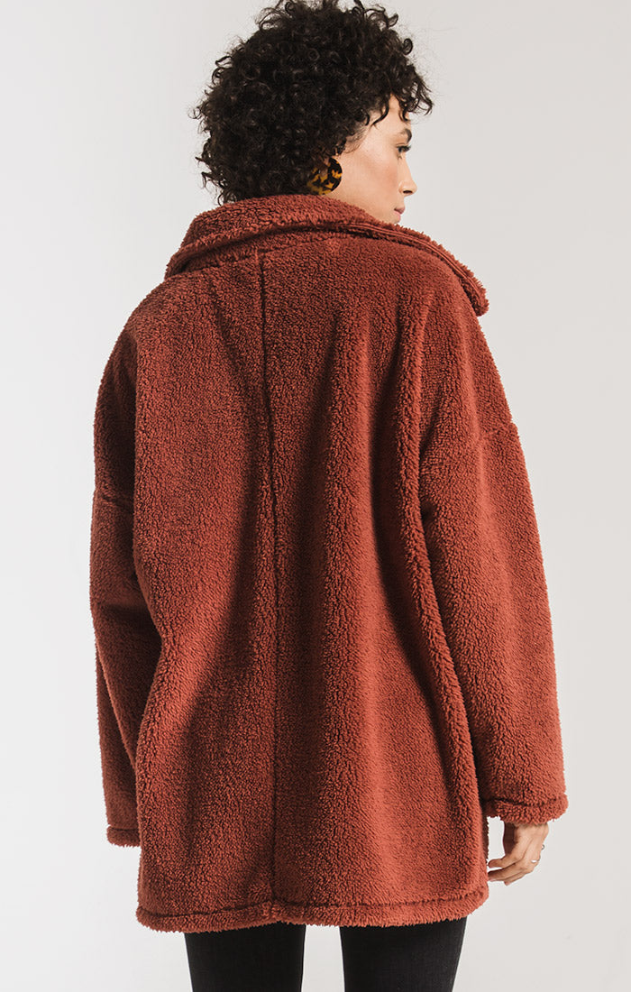Jackets The Sherpa Teddy Bear Coat Mesa Red
