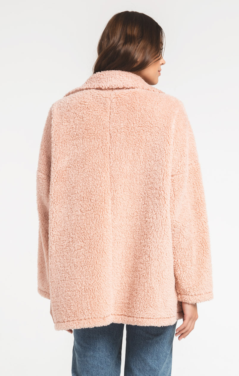 Jackets Sherpa Teddy Bear Coat Misty Rose