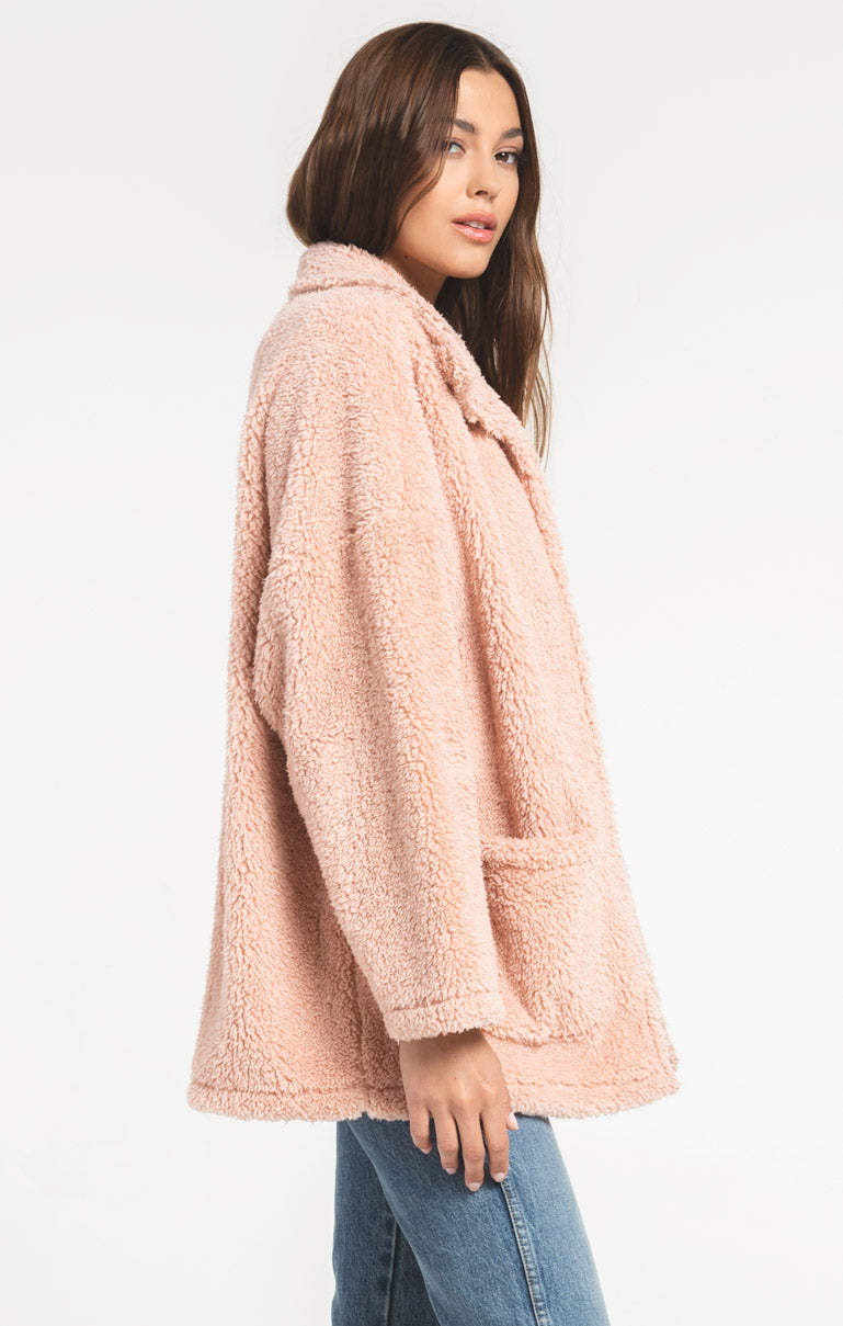 Jackets The Sherpa Teddy Bear Coat Misty Rose