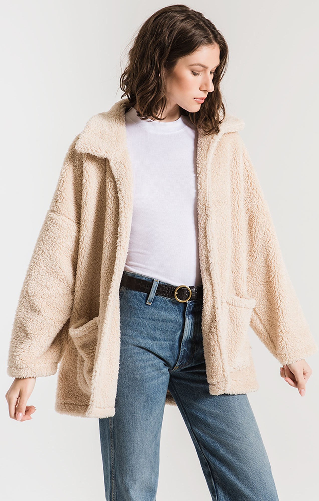 Jackets The Sherpa Teddy Bear Coat Pearl
