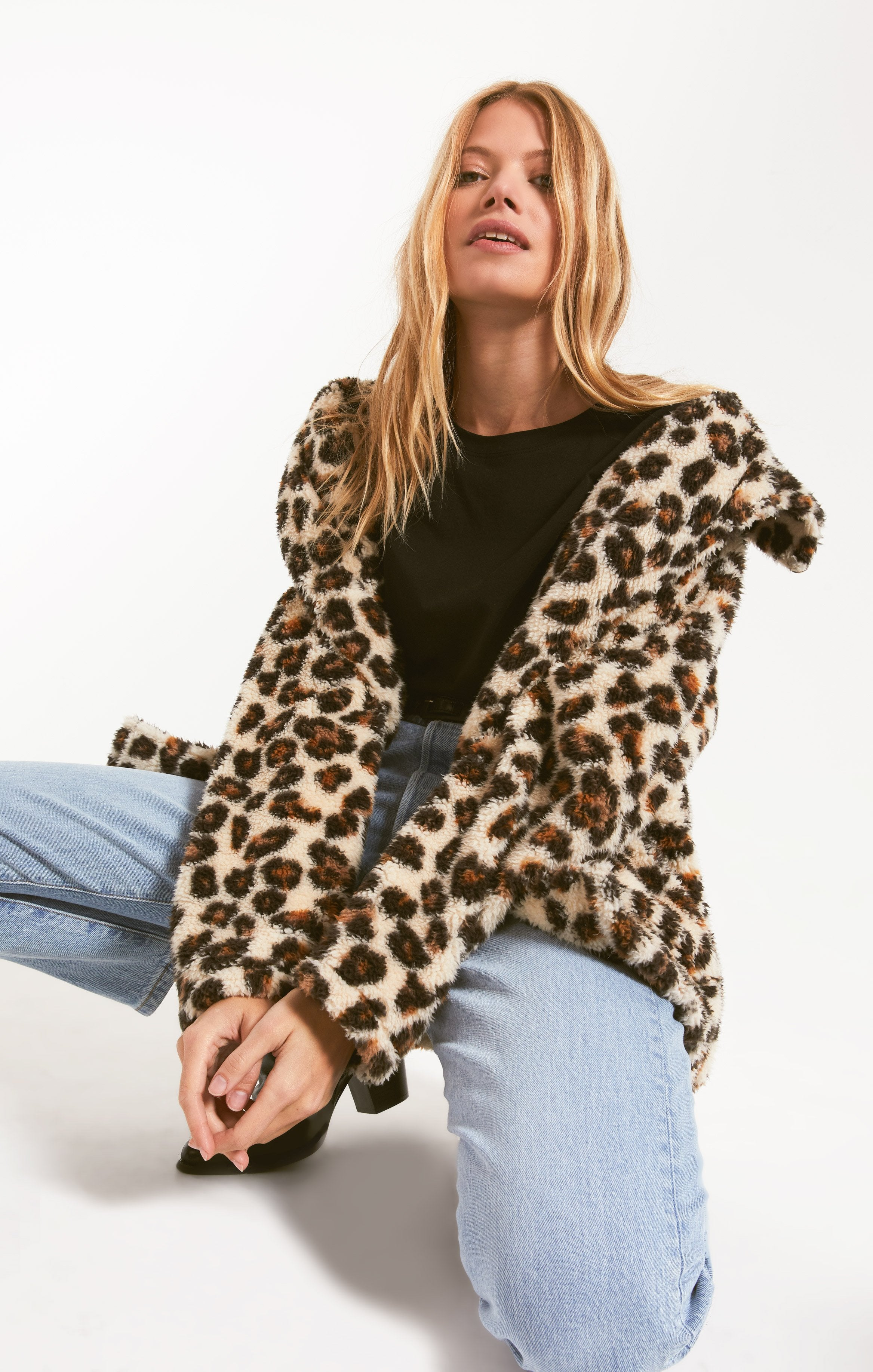 Jackets The Leopard Sherpa Teddy Bear Coat Natural