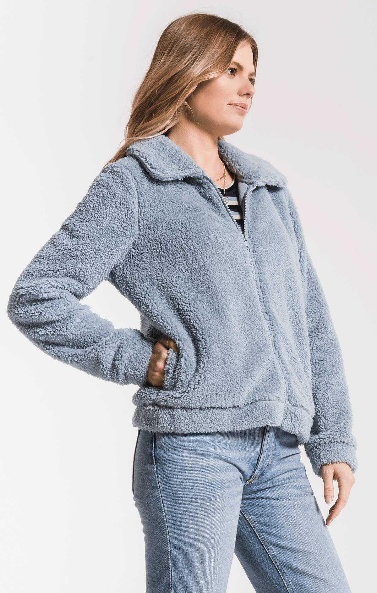 Jackets Sherpa Crop Jacket Ashley Blue