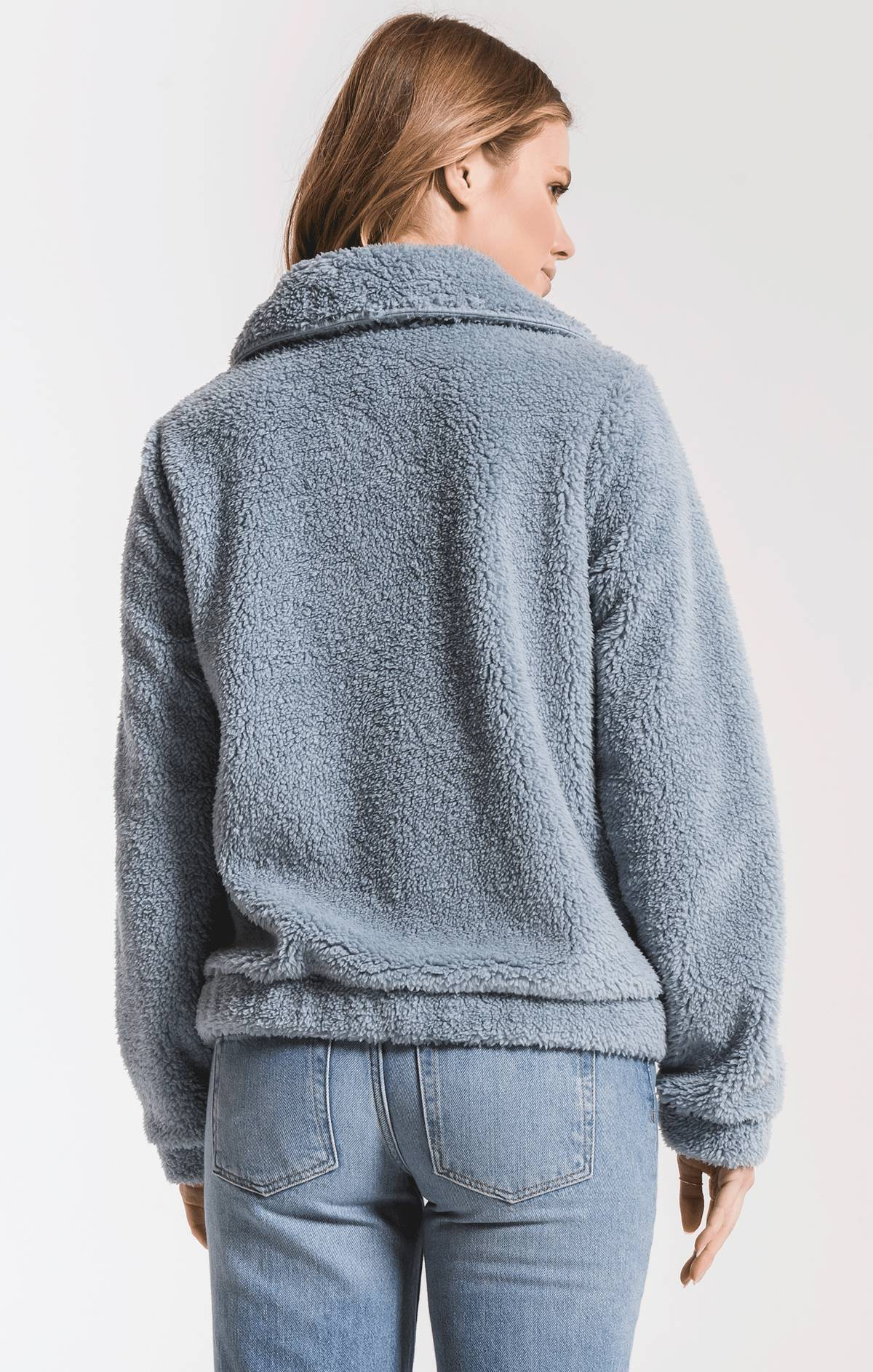 Jackets The Sherpa Crop Jacket Ashley Blue
