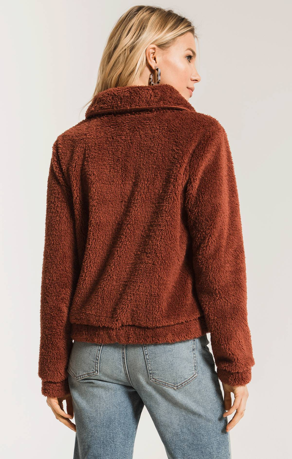 Jackets The Sherpa Crop Jacket Mesa Red
