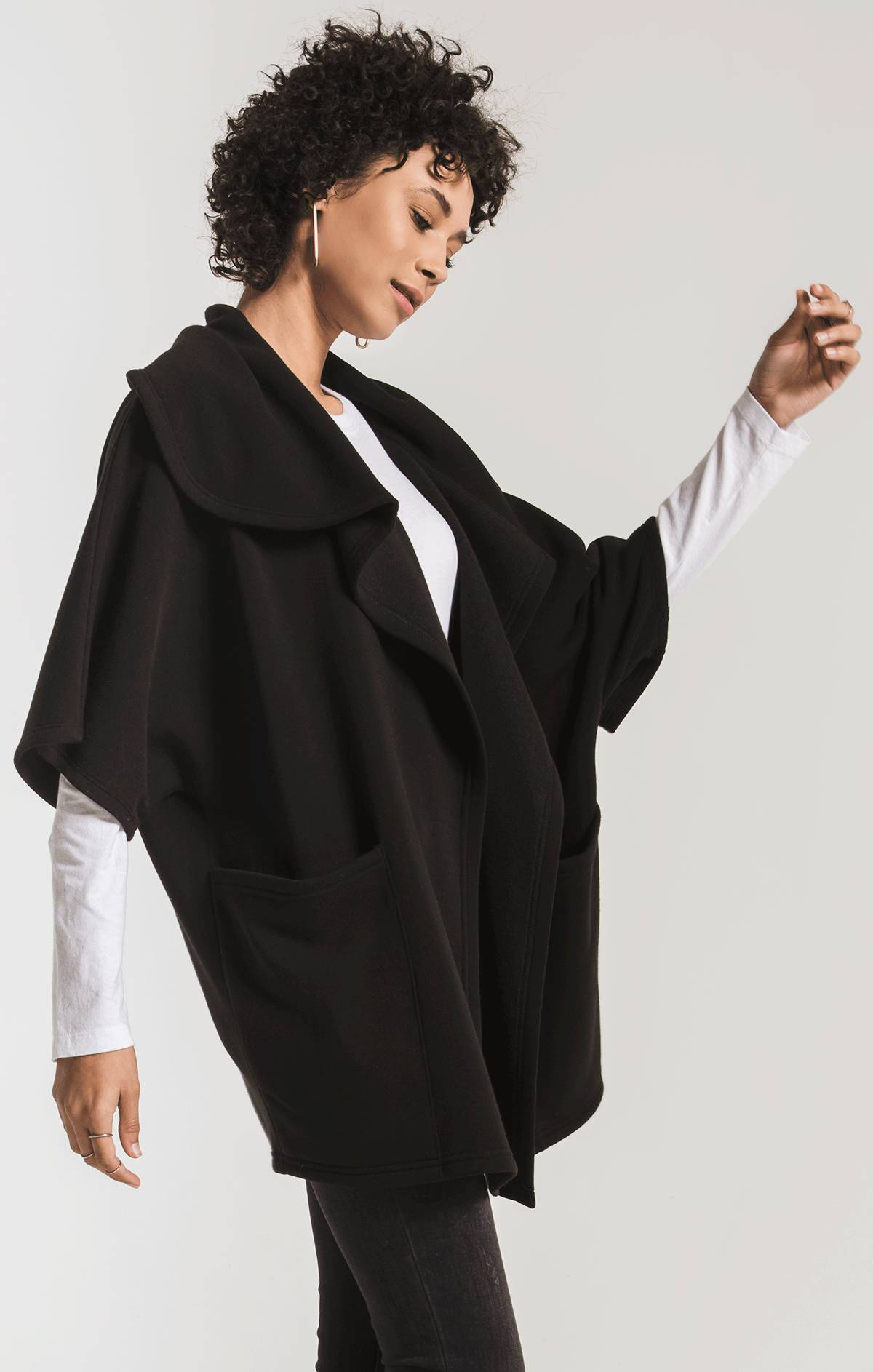 Jackets The Loft Fleece Oversized Cardigan Black