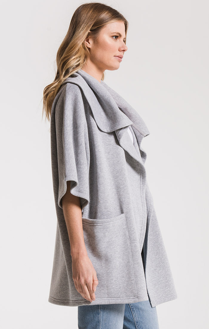 Jackets The Loft Fleece Oversized Cardigan Heather Grey
