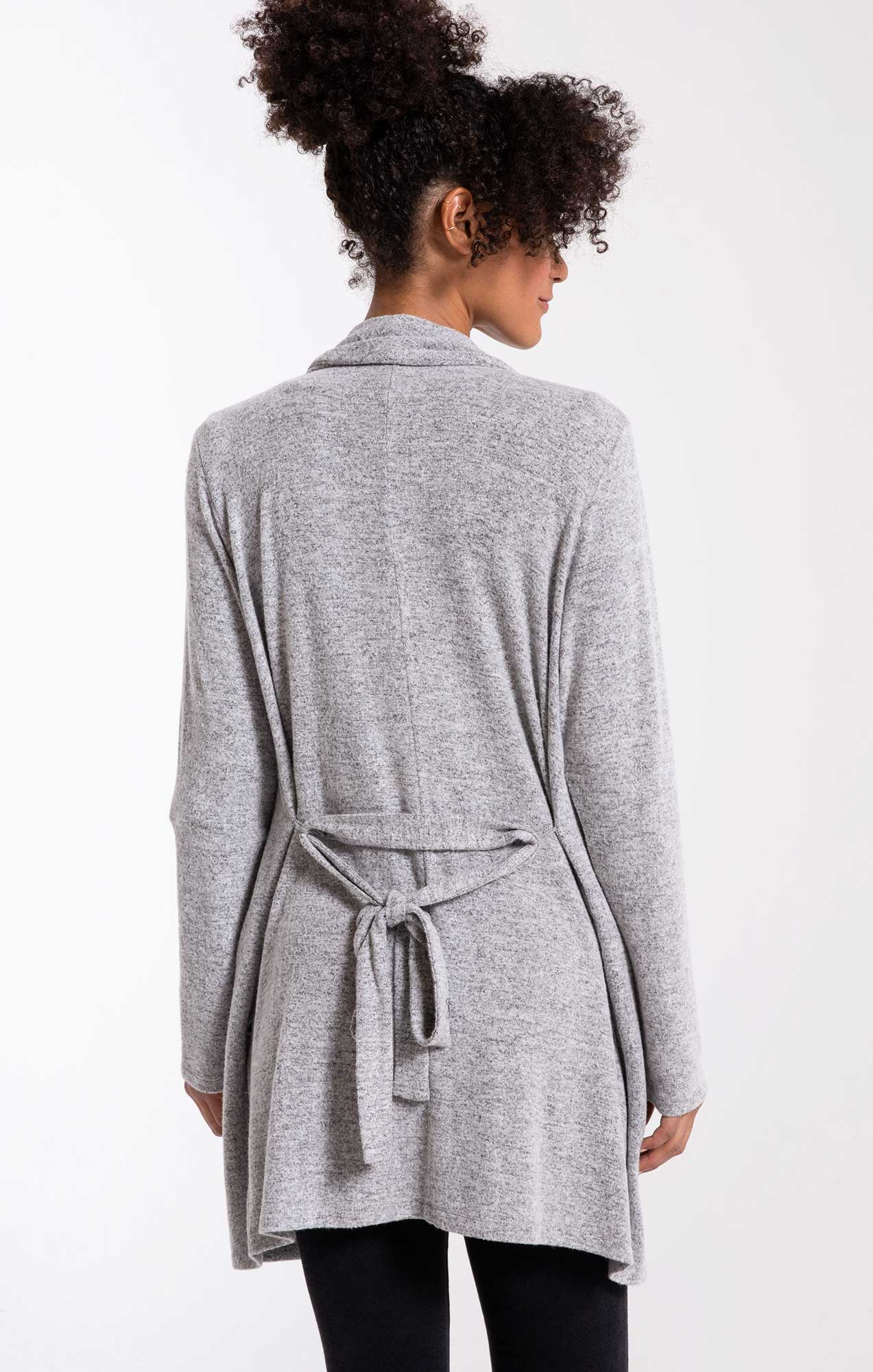 Jackets The Marled Wrap Front Cardigan Heather Grey