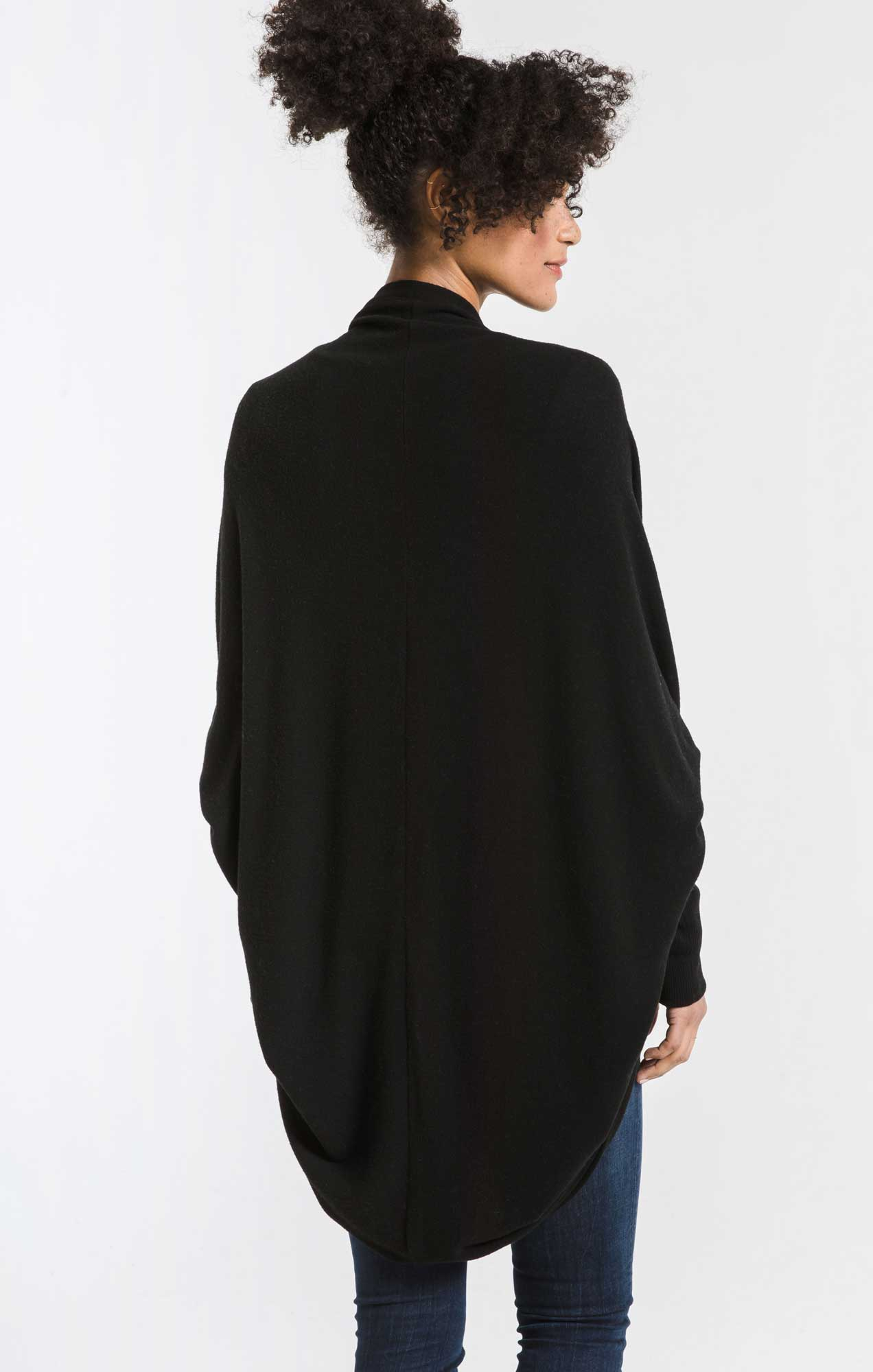 Jackets Soft Spun Cocoon Cardigan Black