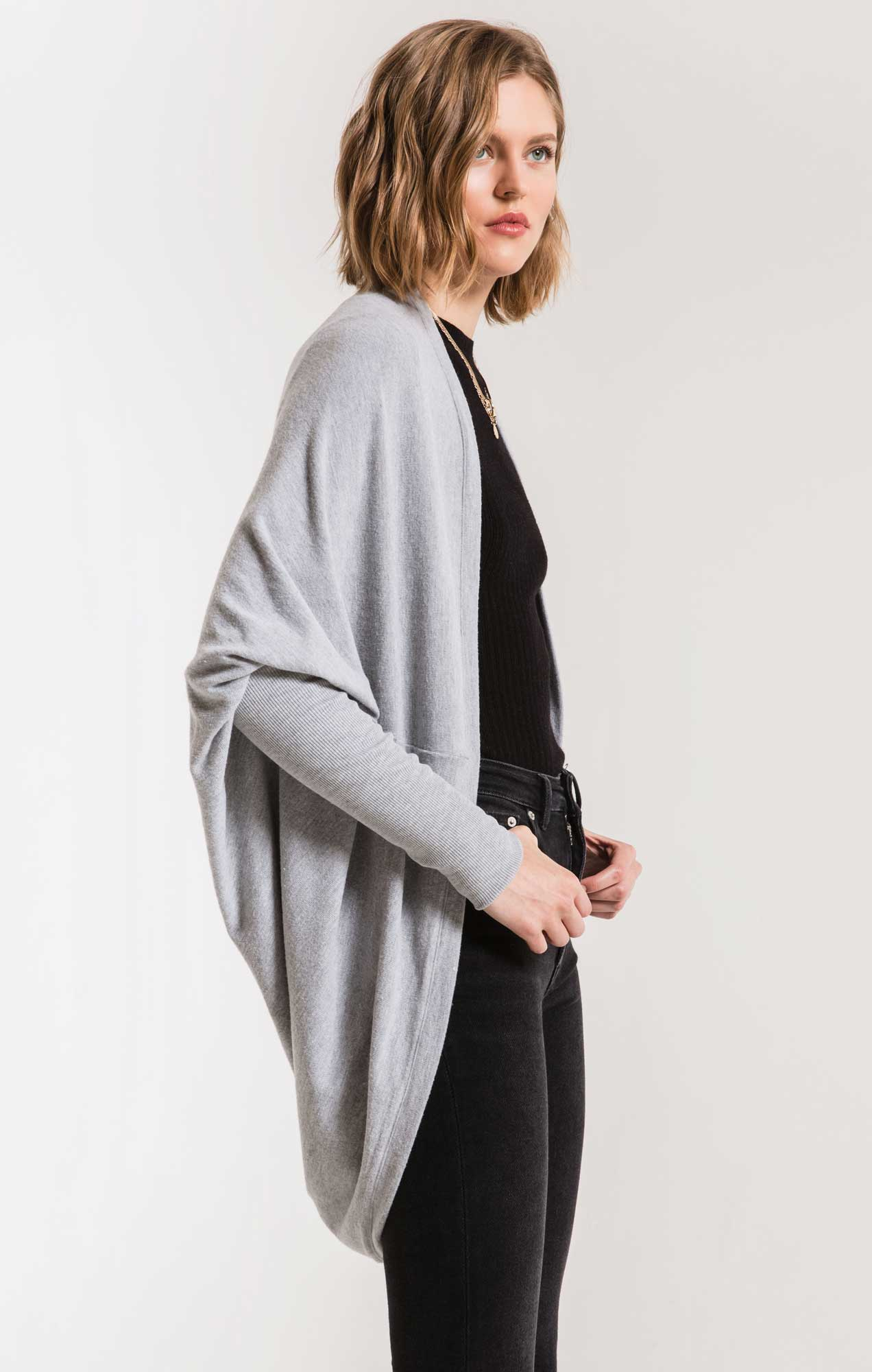 Jackets The Soft Spun Cocoon Cardigan Heather Grey