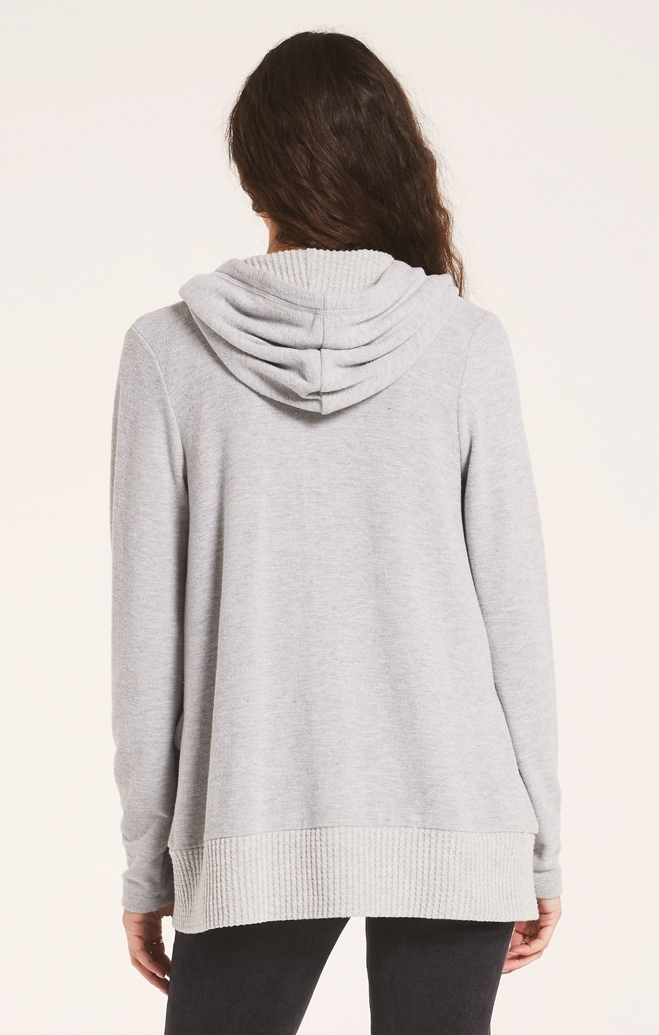 Sweaters Thermal Lined Soft Spun Cardigan Heather Grey