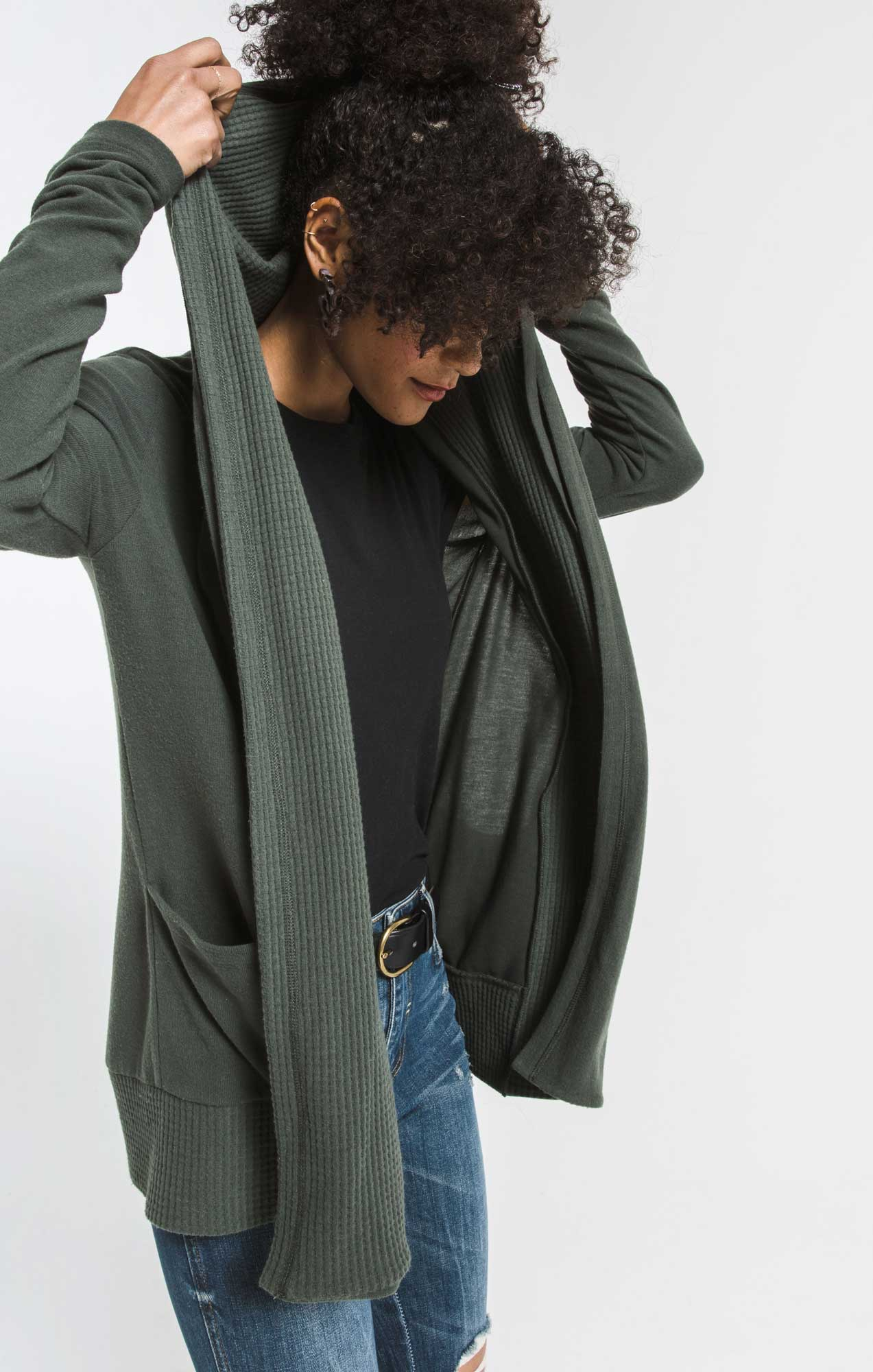 Sweaters Thermal Lined Soft Spun Cardigan Rosin