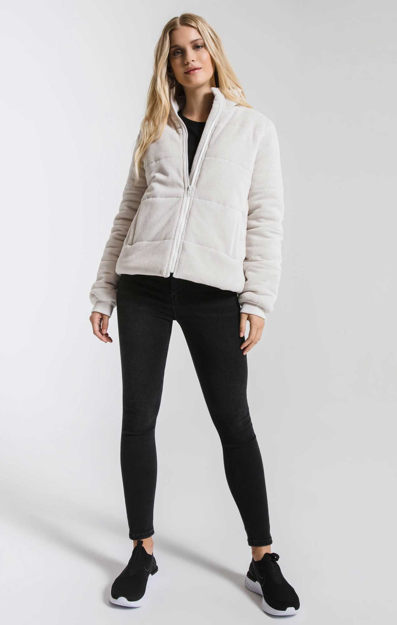 Jackets The Corduroy Puffer Jacket Champagne Mist