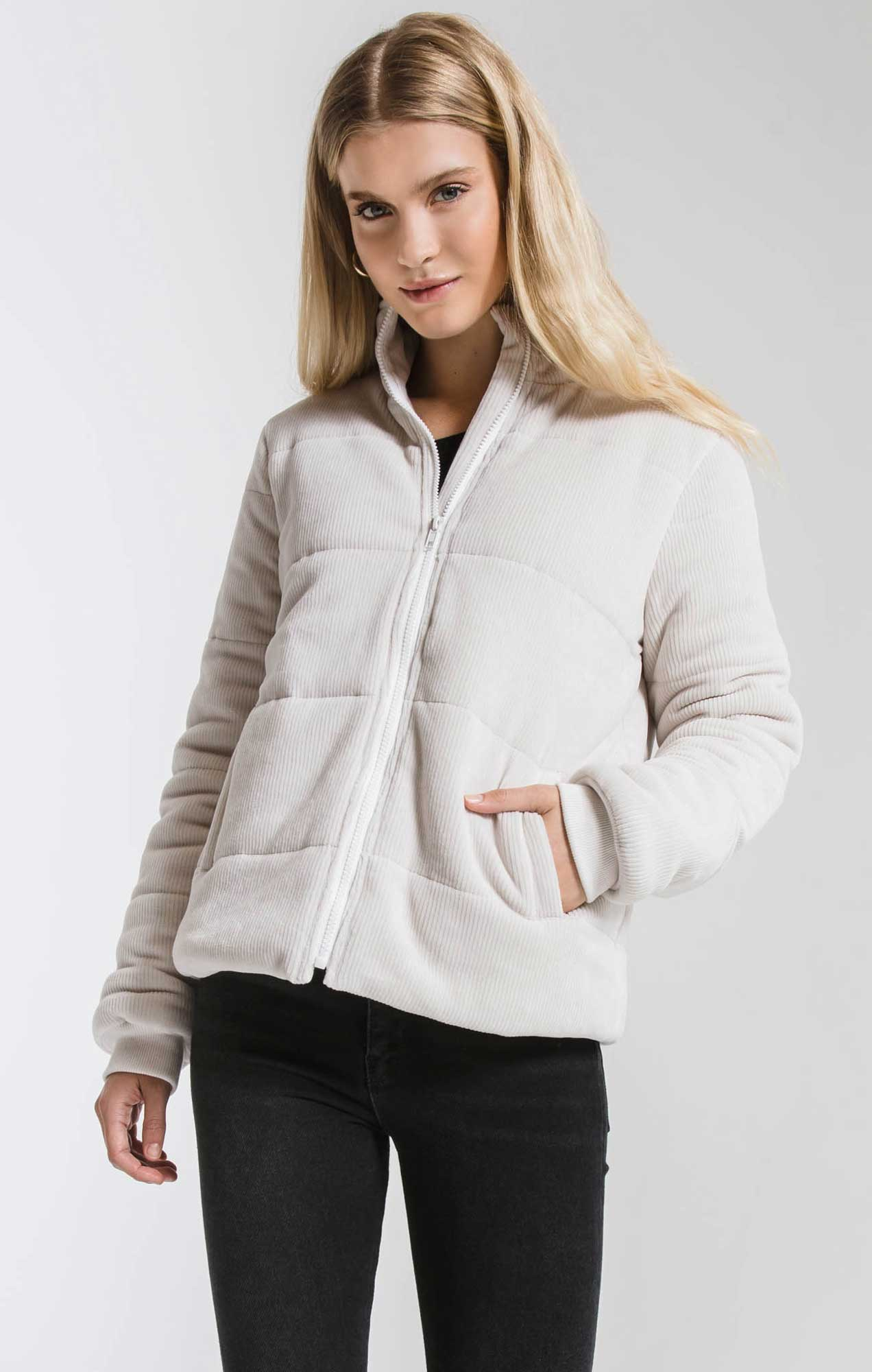 Jackets Corduroy Puffer Jacket Champagne Mist