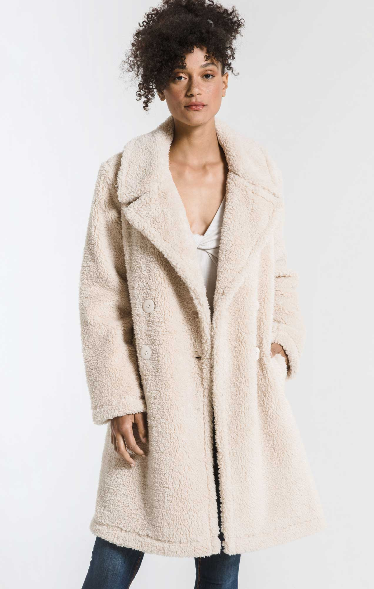 Coats Cozy Sherpa Coat Pearl
