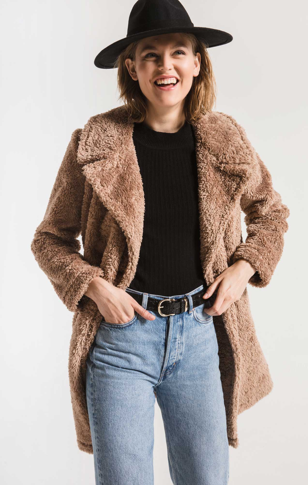 Coats The Cozy Sherpa Coat Toffee
