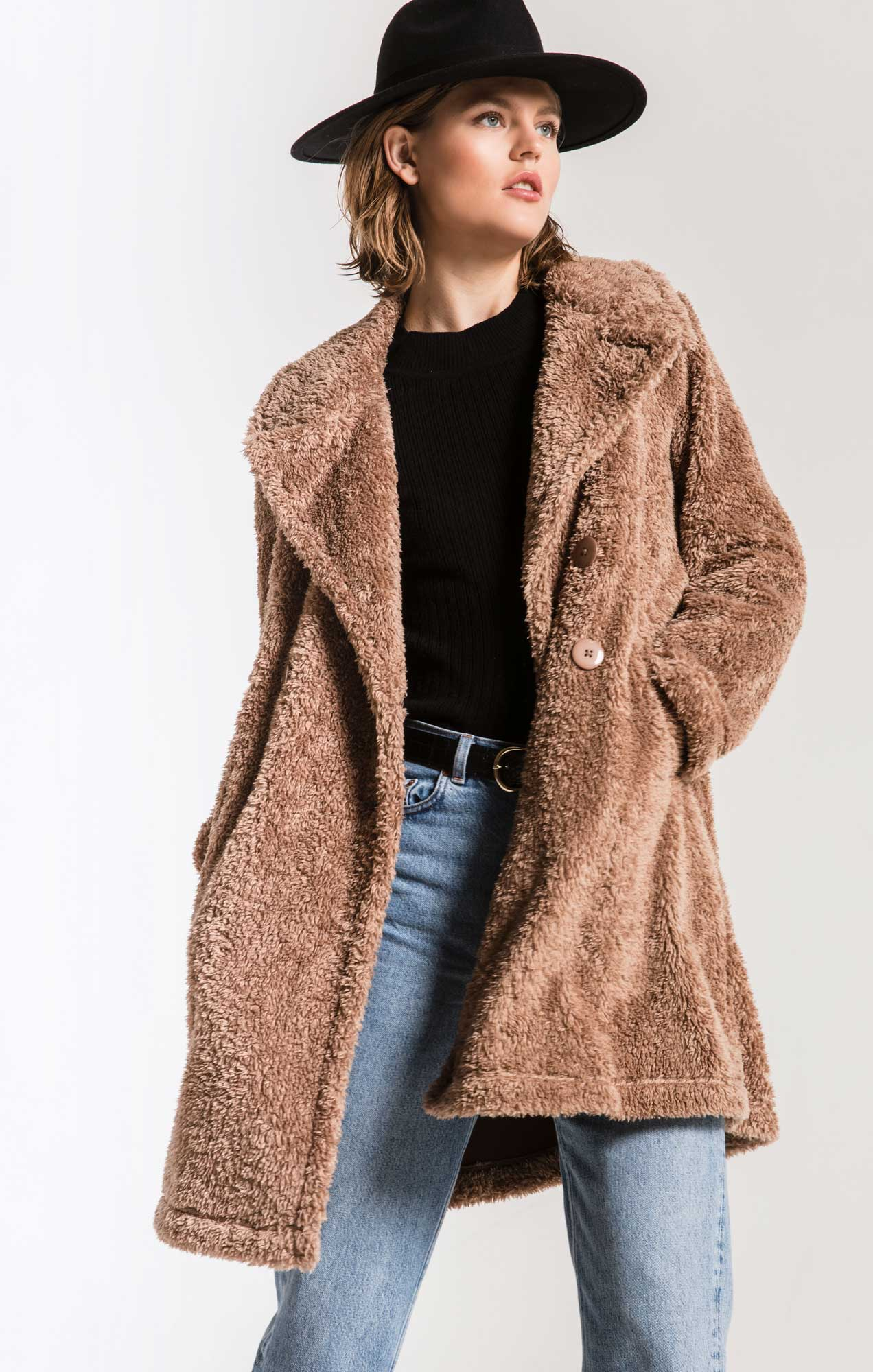 Coats Cozy Sherpa Coat Toffee