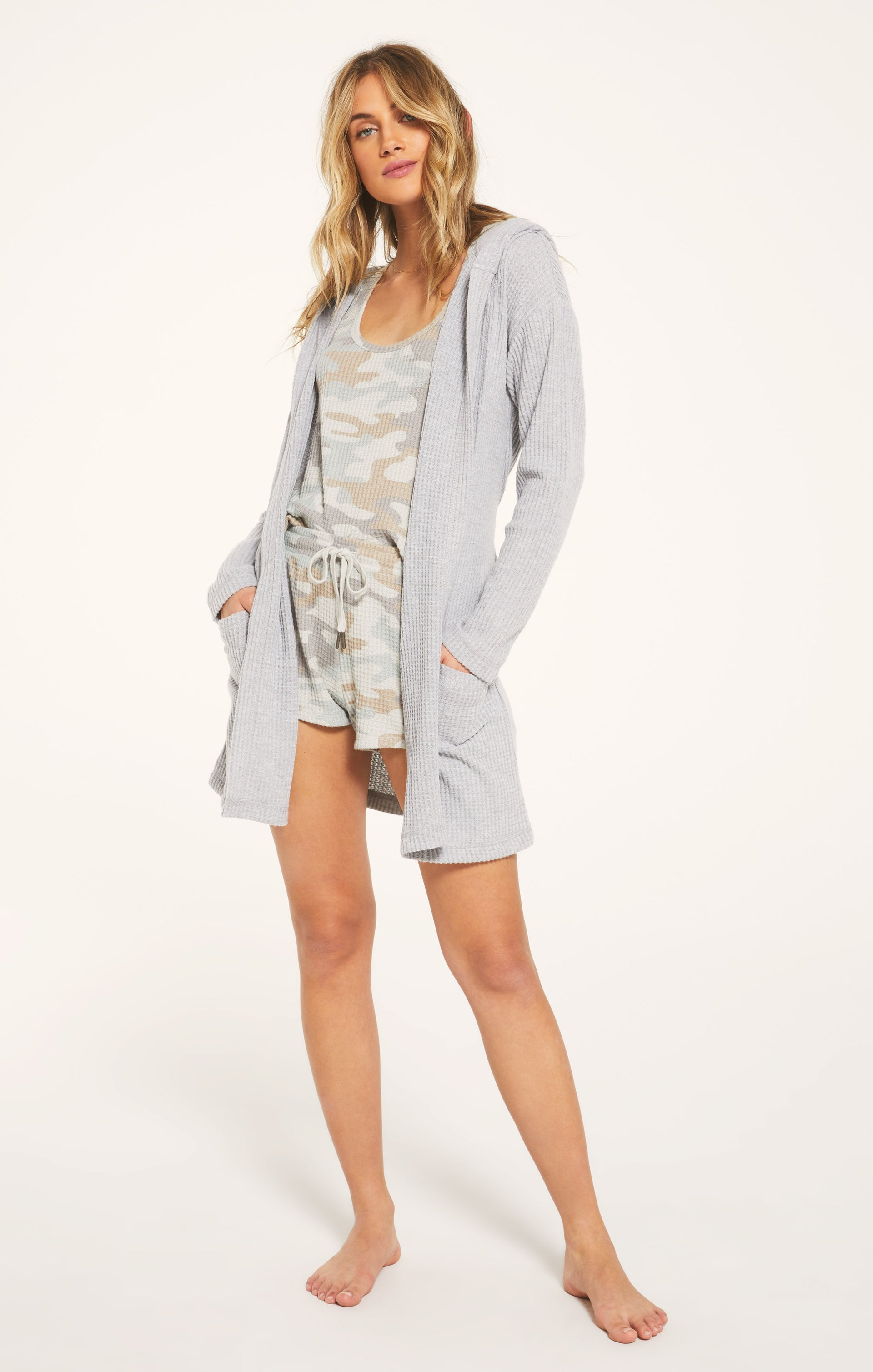 Jackets Ricky Waffle Robe Heather Grey