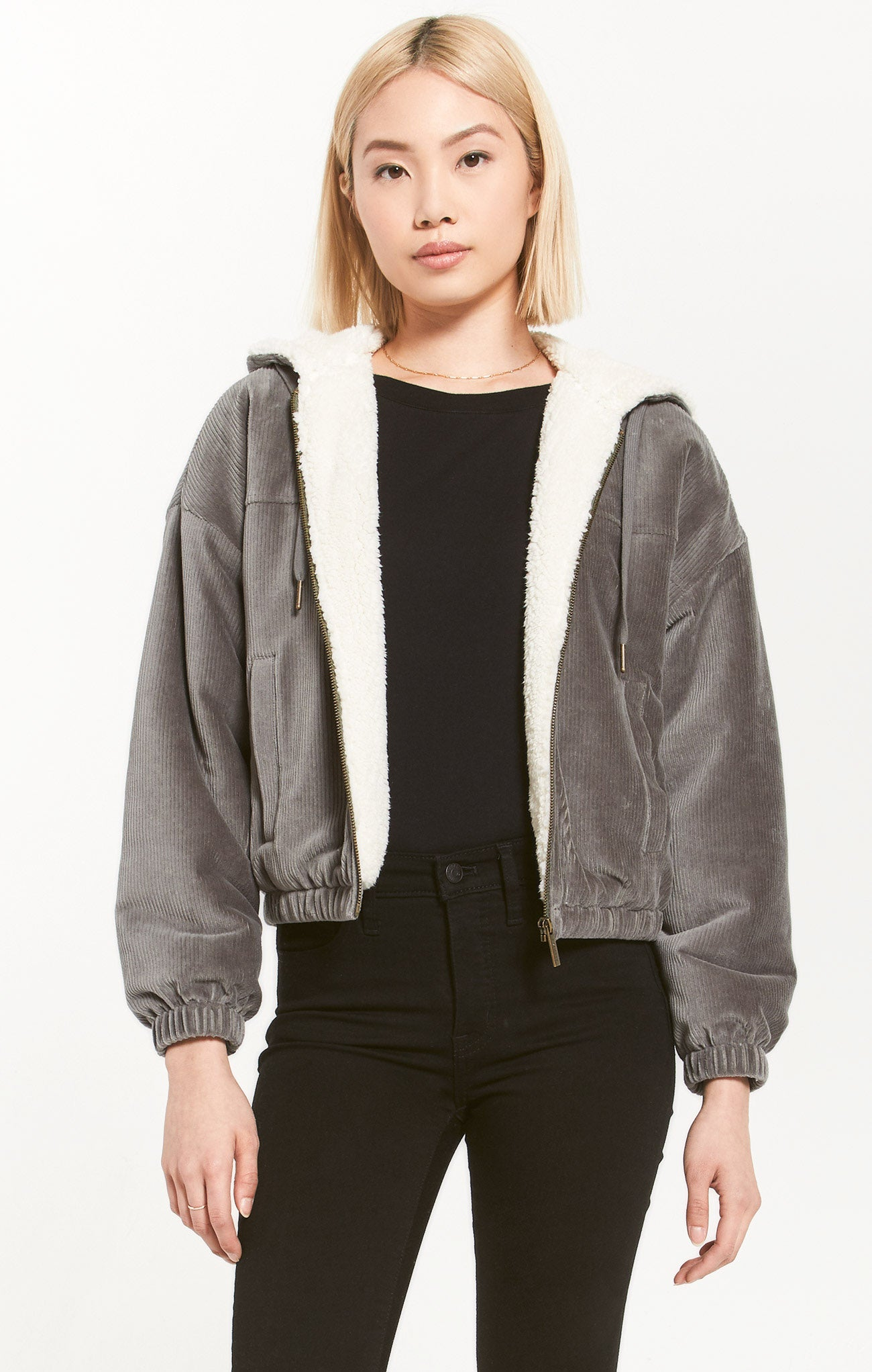 Jackets Camille Cord Bomber Ash Green