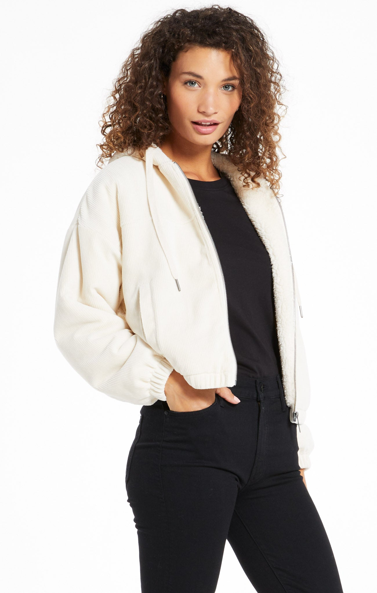 Jackets Camille Cord Bomber Bone