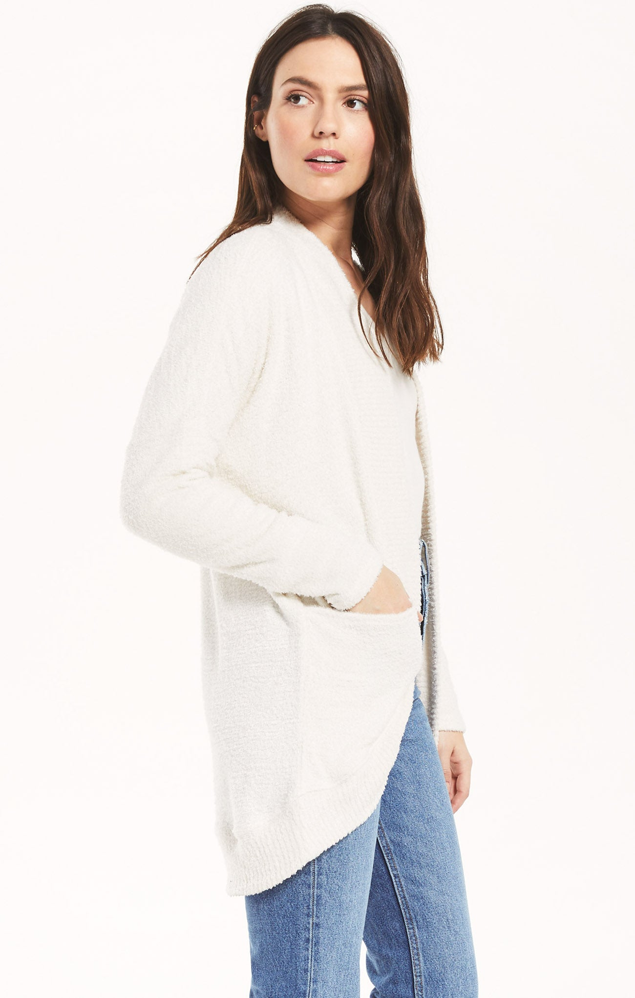 Jackets Kaye Feather Cardigan Bone