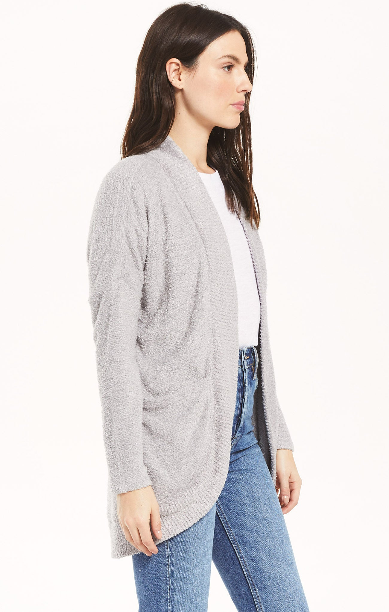 Jackets Kaye Feather Cardigan Heather Grey