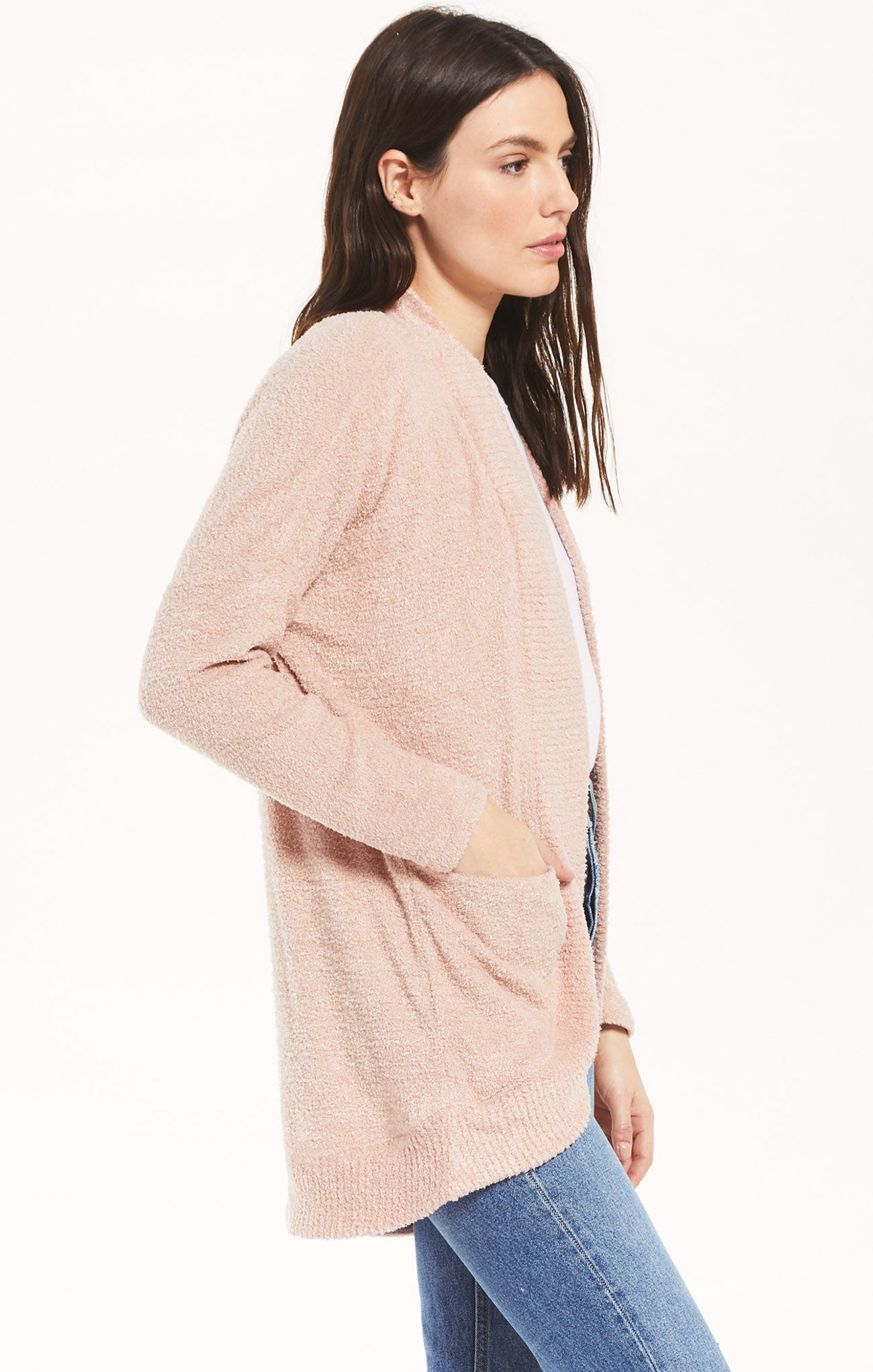 Jackets Kaye Feather Cardigan Silver Pink