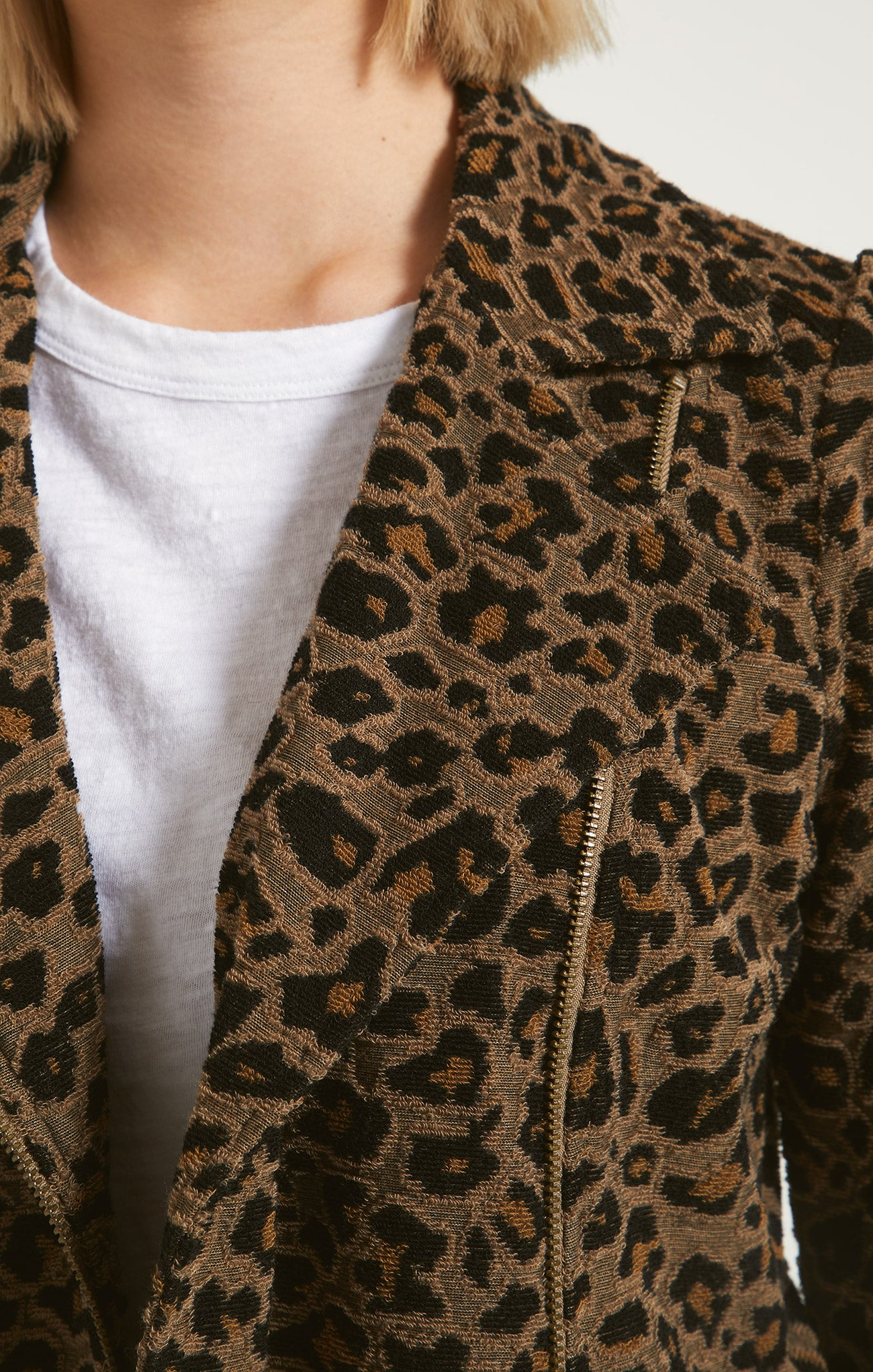 Jackets Charley Leopard Jacquard Jacket Toffee