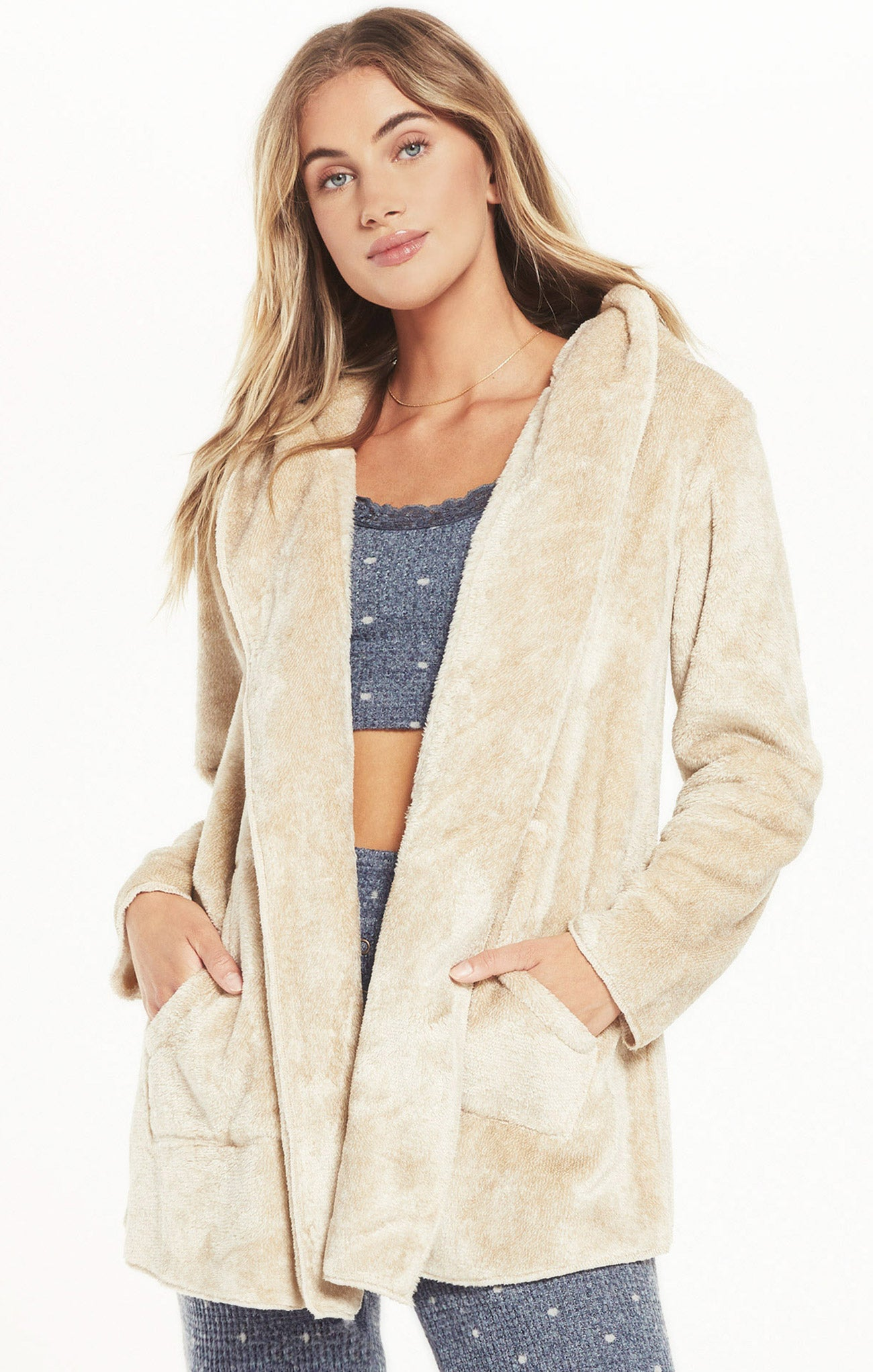 Jackets Cozy Feels Plush Cardigan Birch
