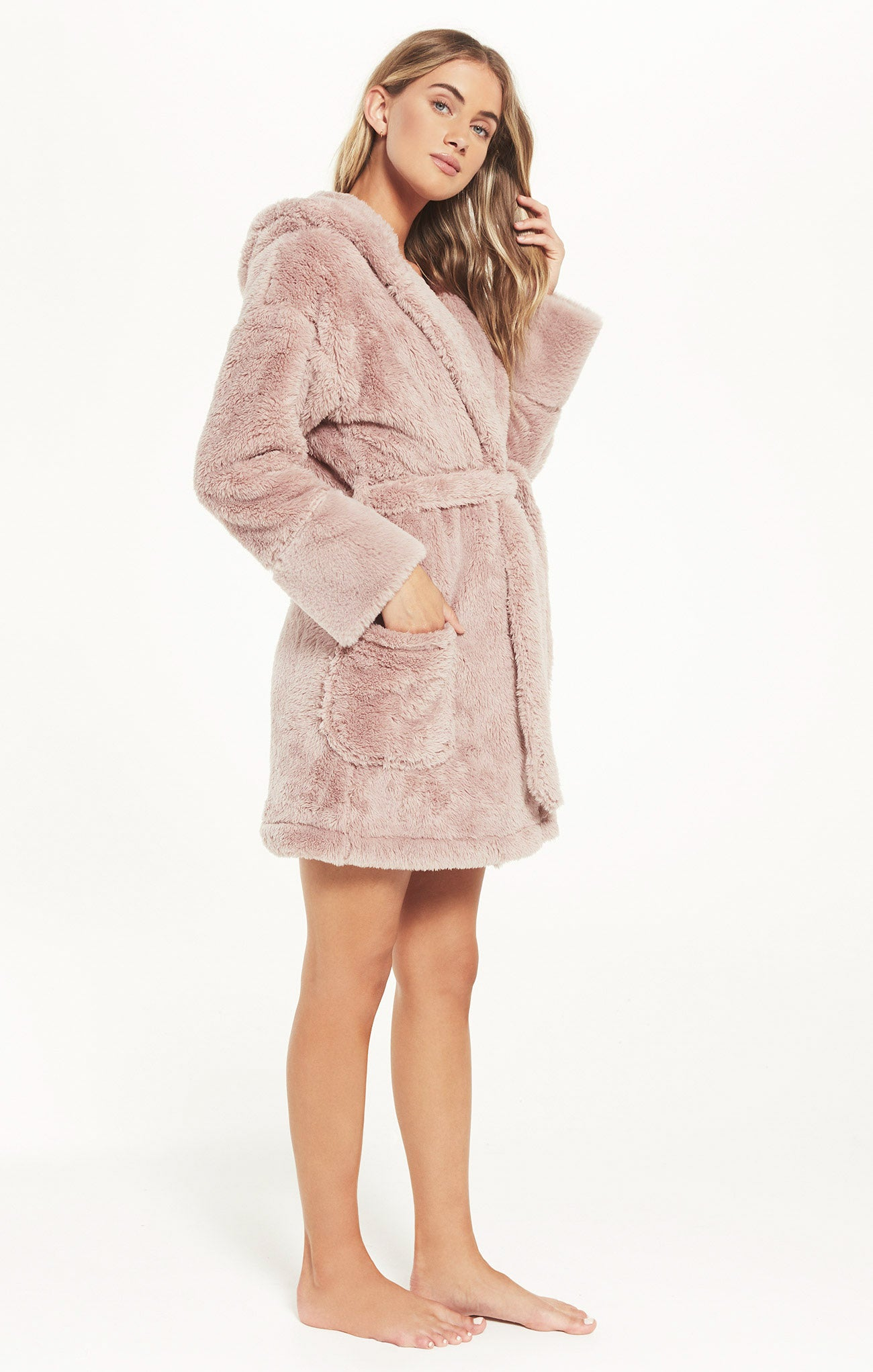 Jackets Head In the Clouds Robe Dusty Rose