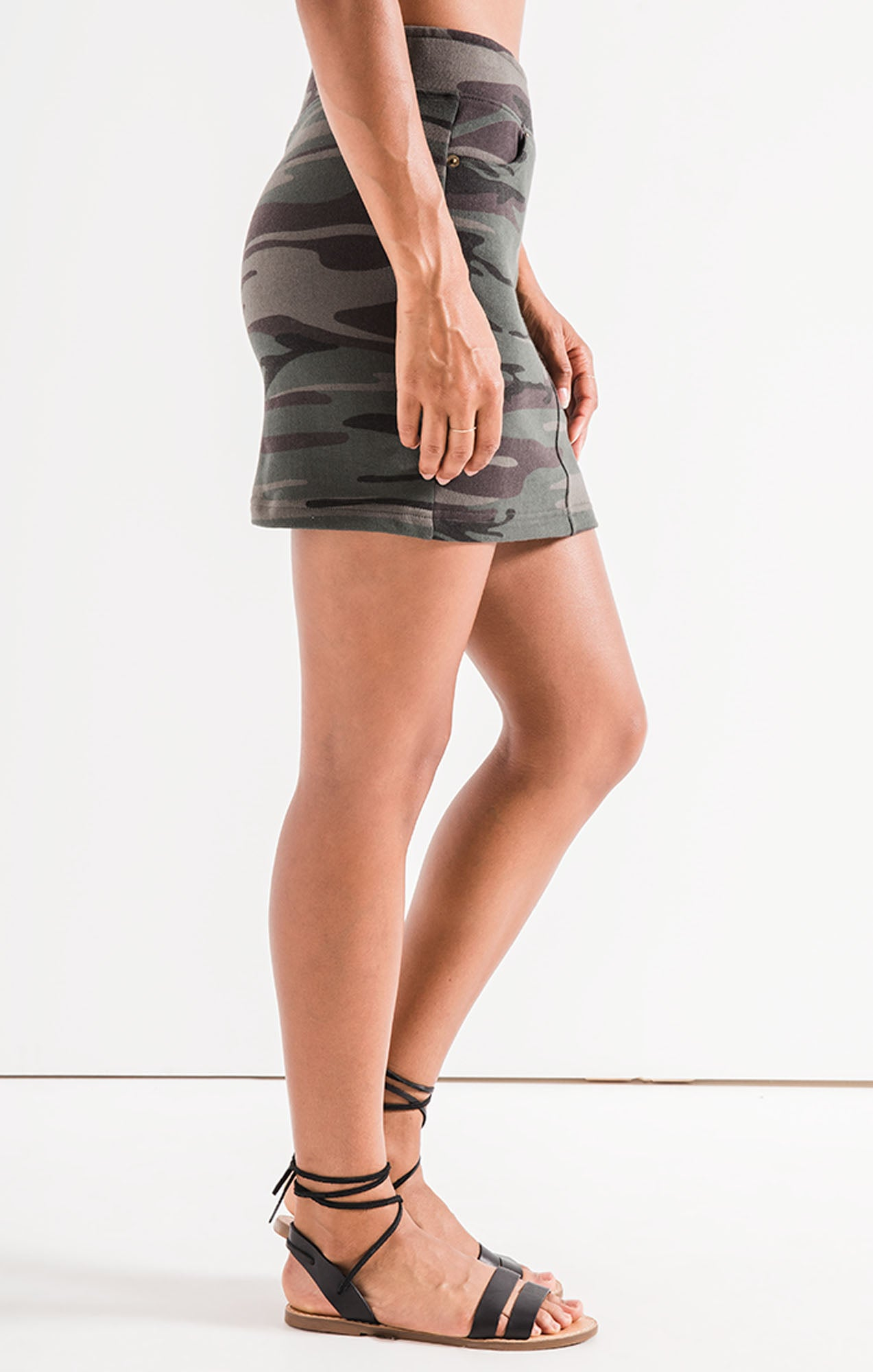 Skirts The Camo Knit Mini Skirt Camo Forest Green