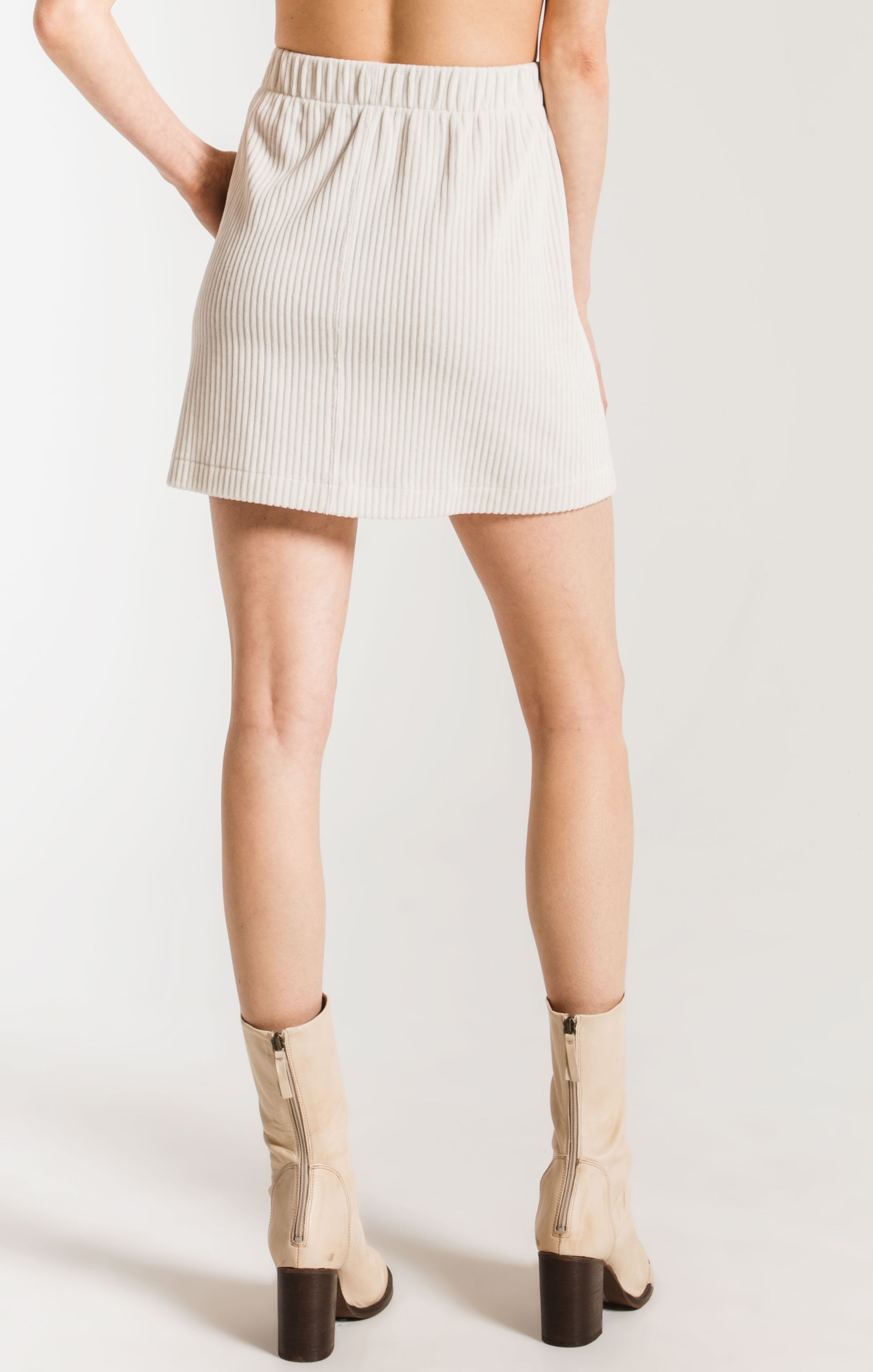 Skirts The Knit Corduroy Skirt Champagne Mist