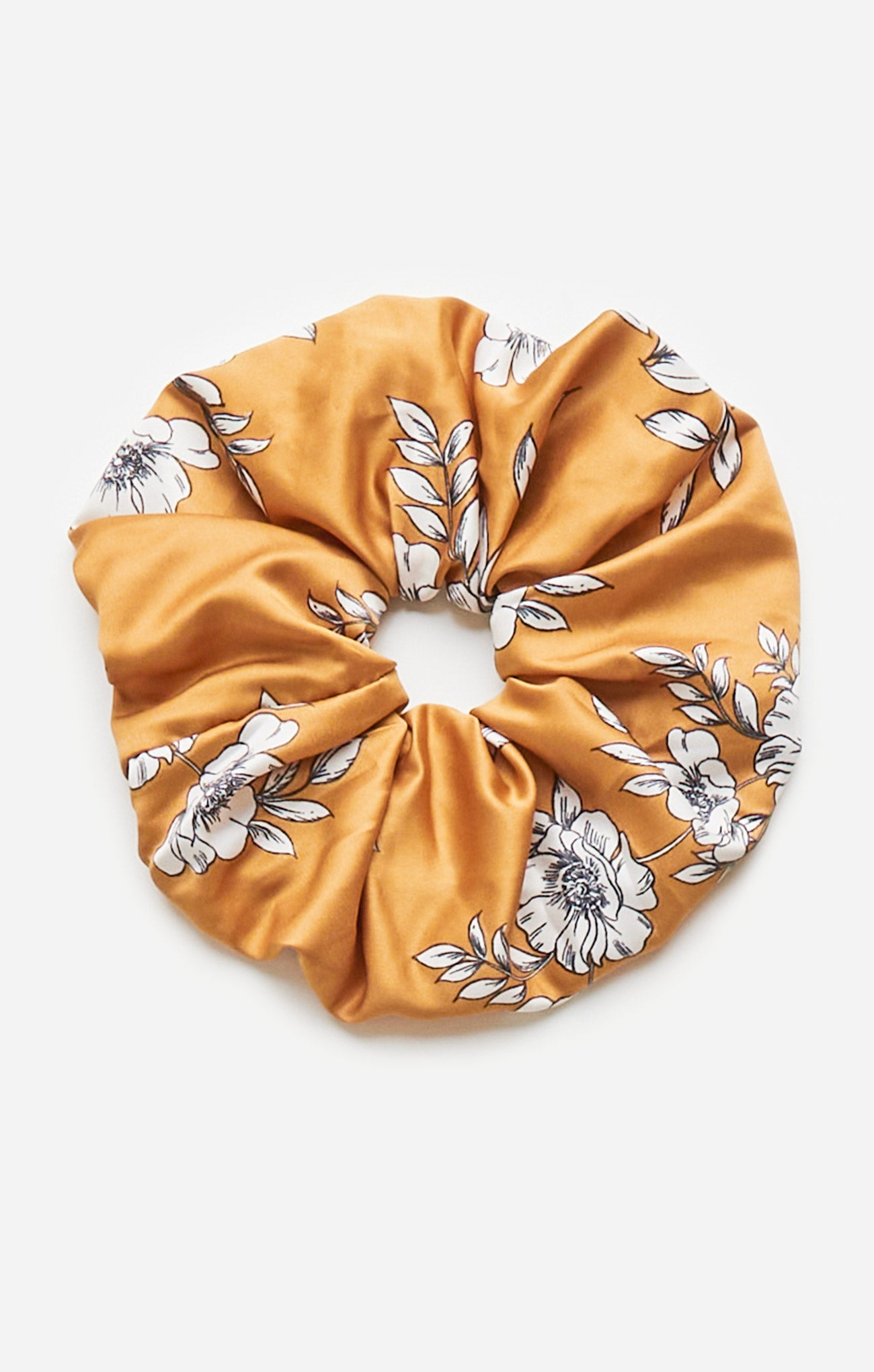 Accessories Oversized Floral Satin Scrunchie Oversized Floral Satin Scrunchie