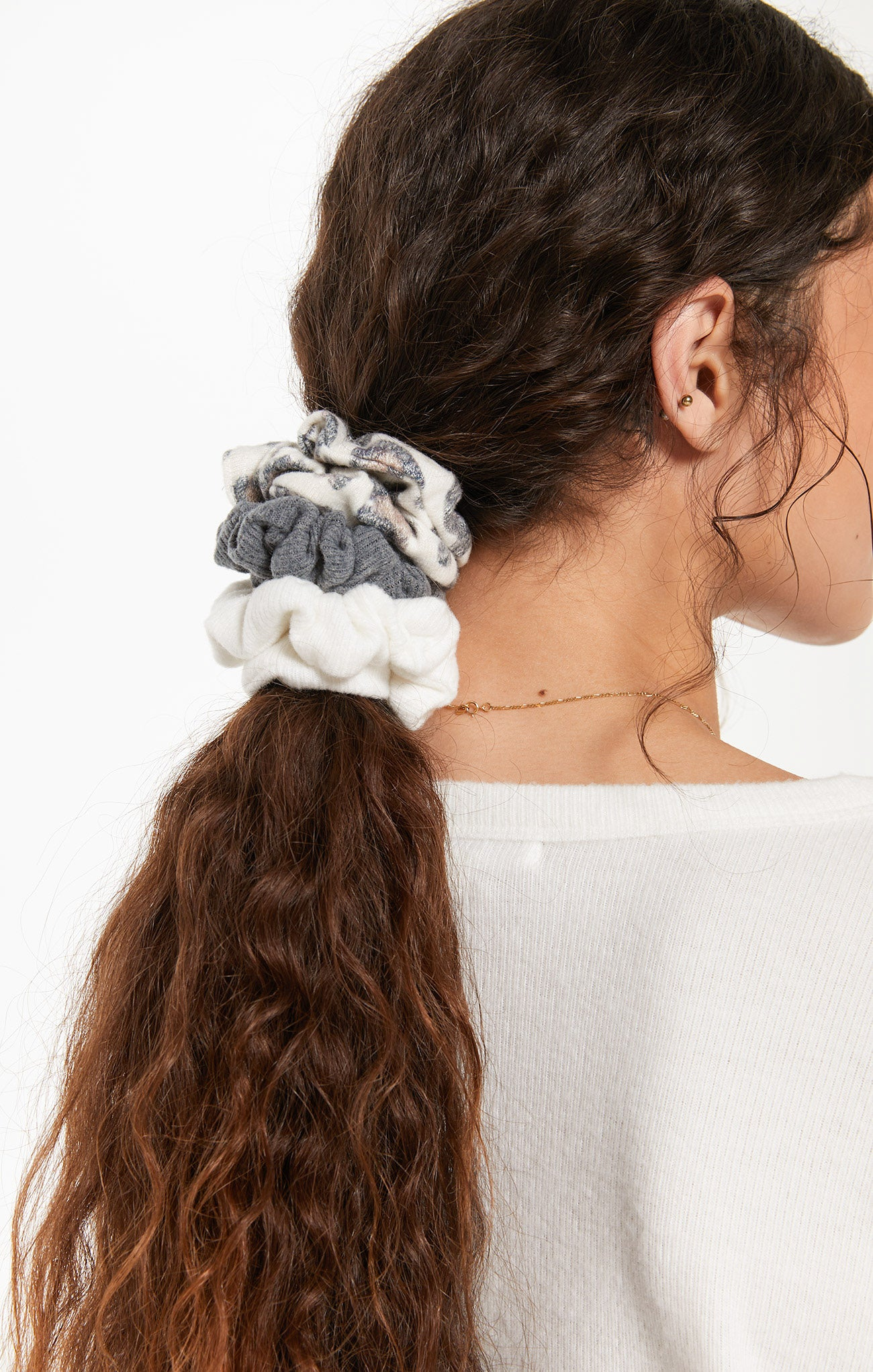 Accessories Brushed Leopard Scrunchies (3-Pack) Brushed Leopard Scrunchies (3-Pack)