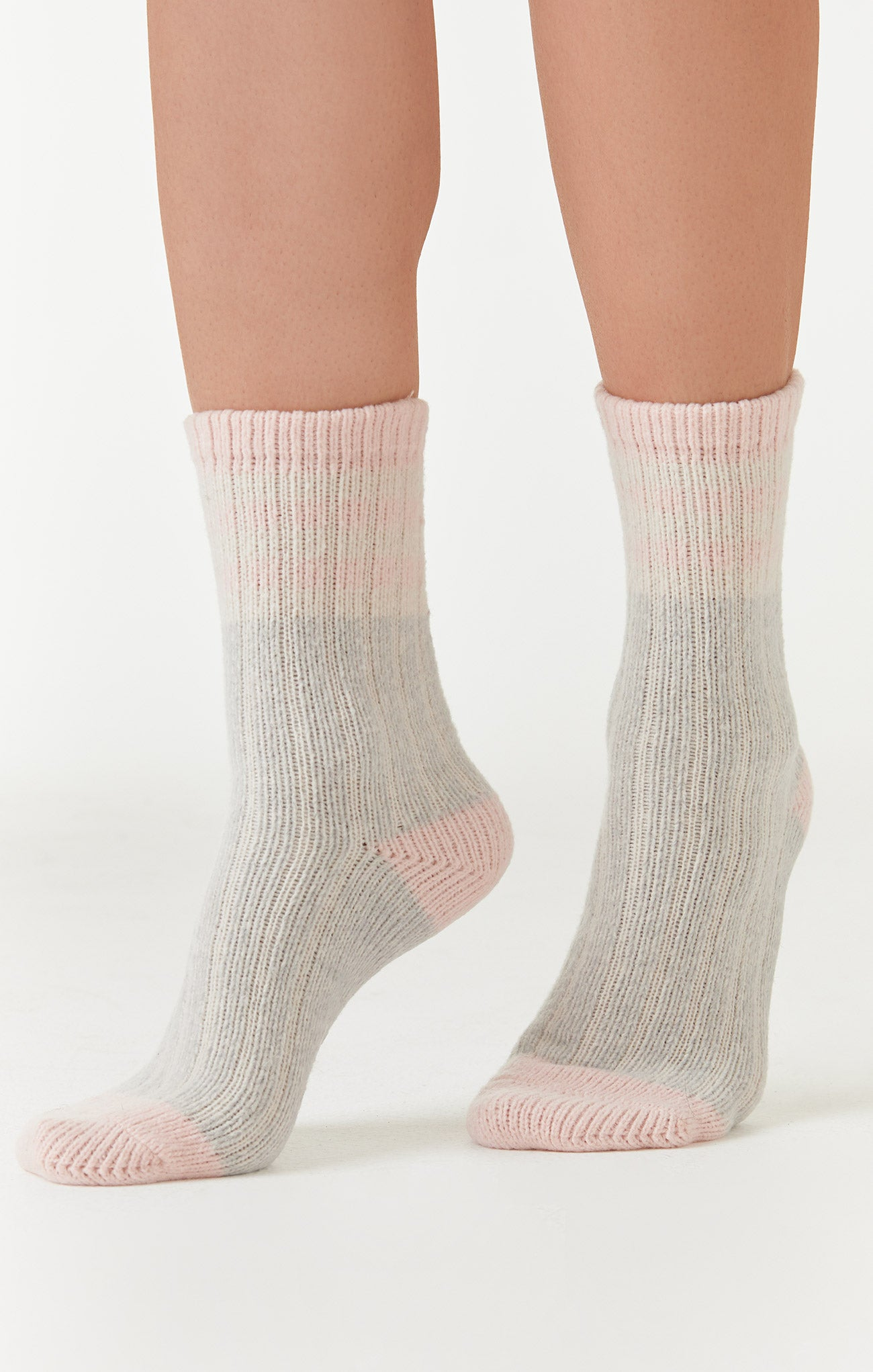 Accessories Namastay Rib Socks Heather Grey