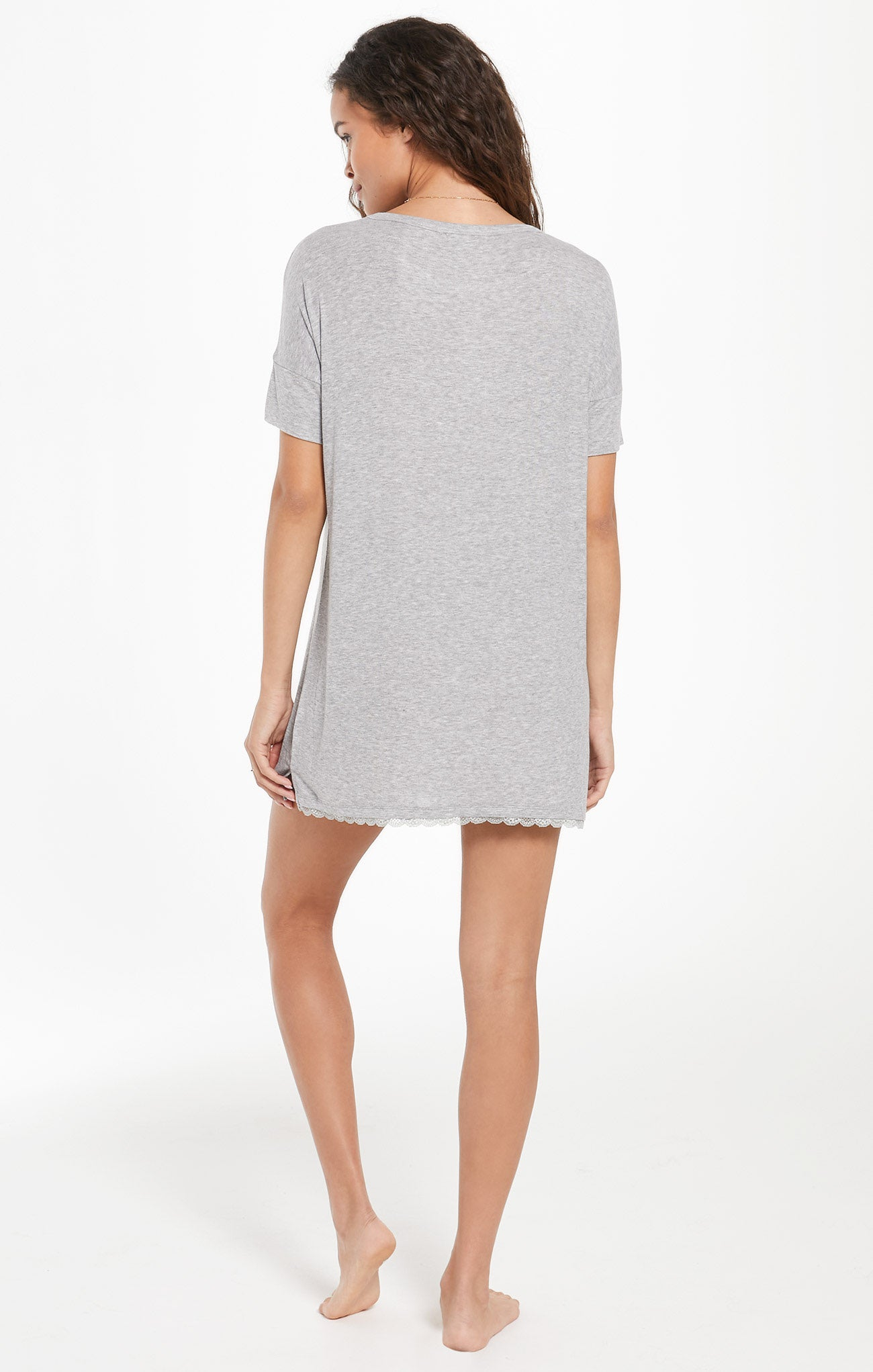 Dresses Girlfriend Rib Dress Heather Grey