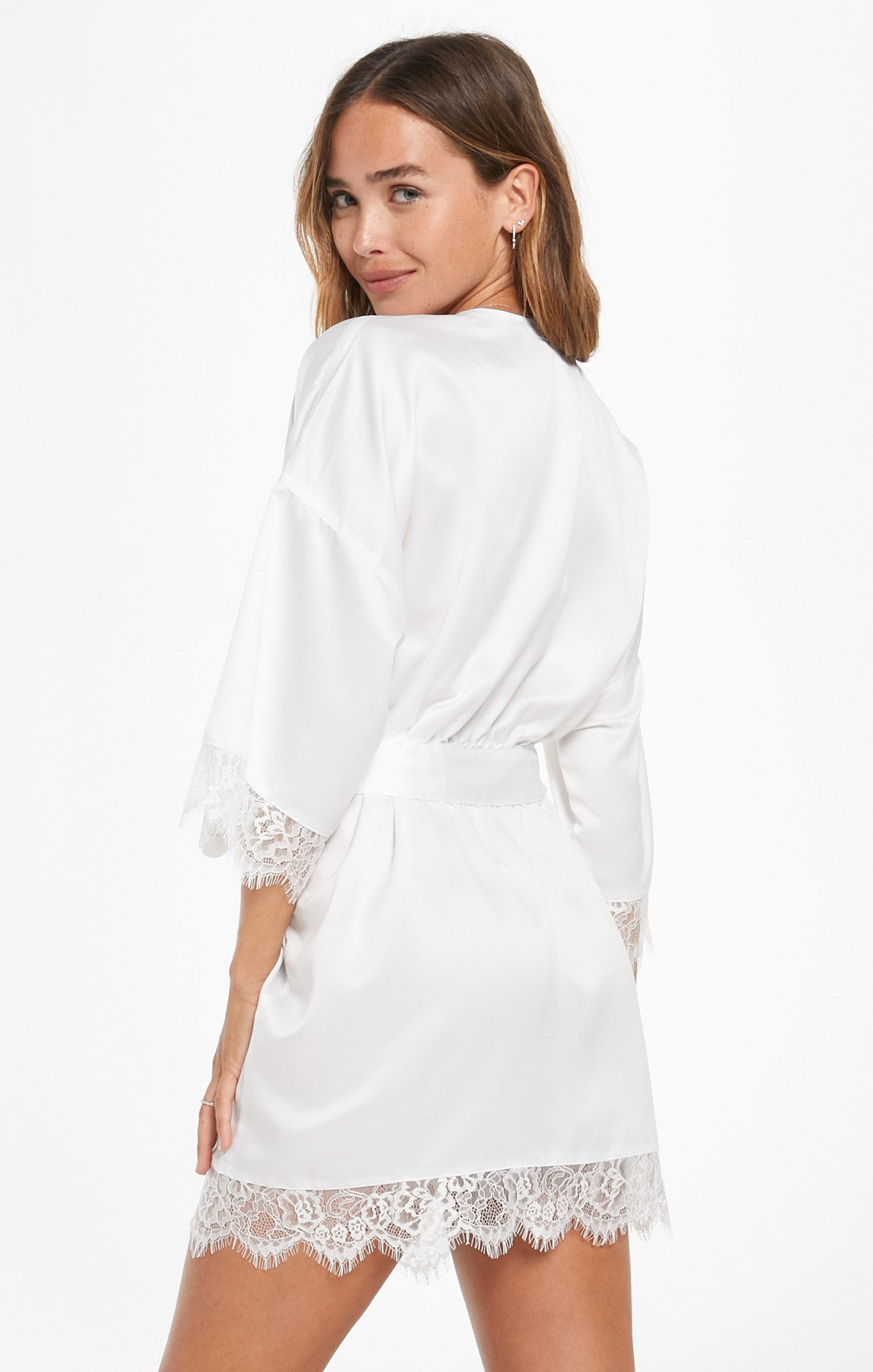 Jackets Best Day Ever Robe Pearl White