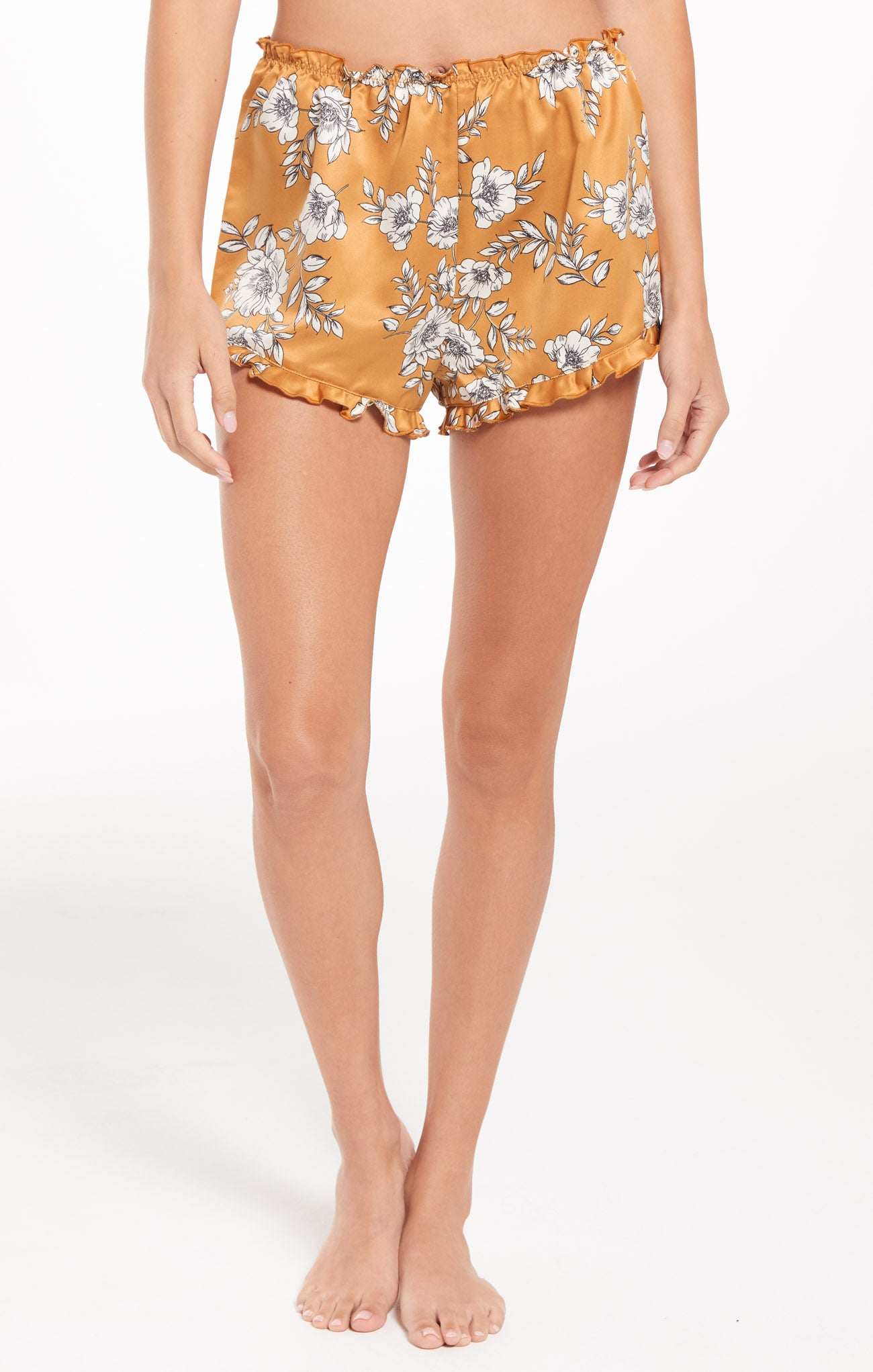 Shorts Date Night Floral Satin Short Date Night Floral Satin Short