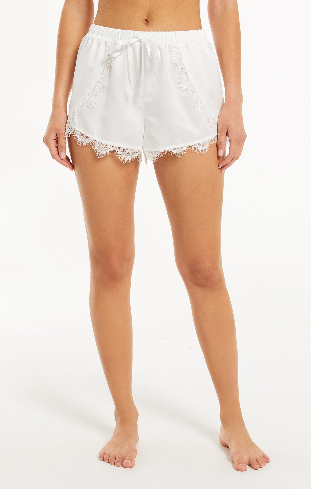 Shorts Only Love Satin Short Pearl White