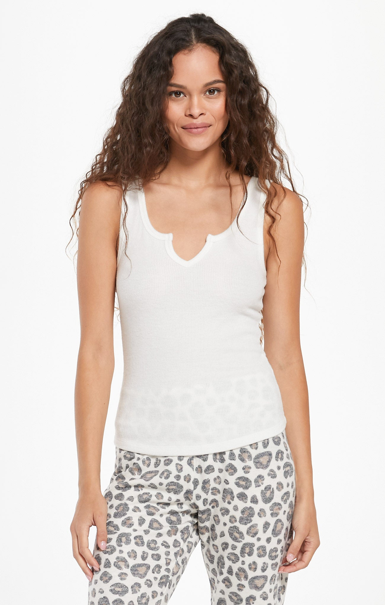 Tops Sneak Peek Rib Tank Bone