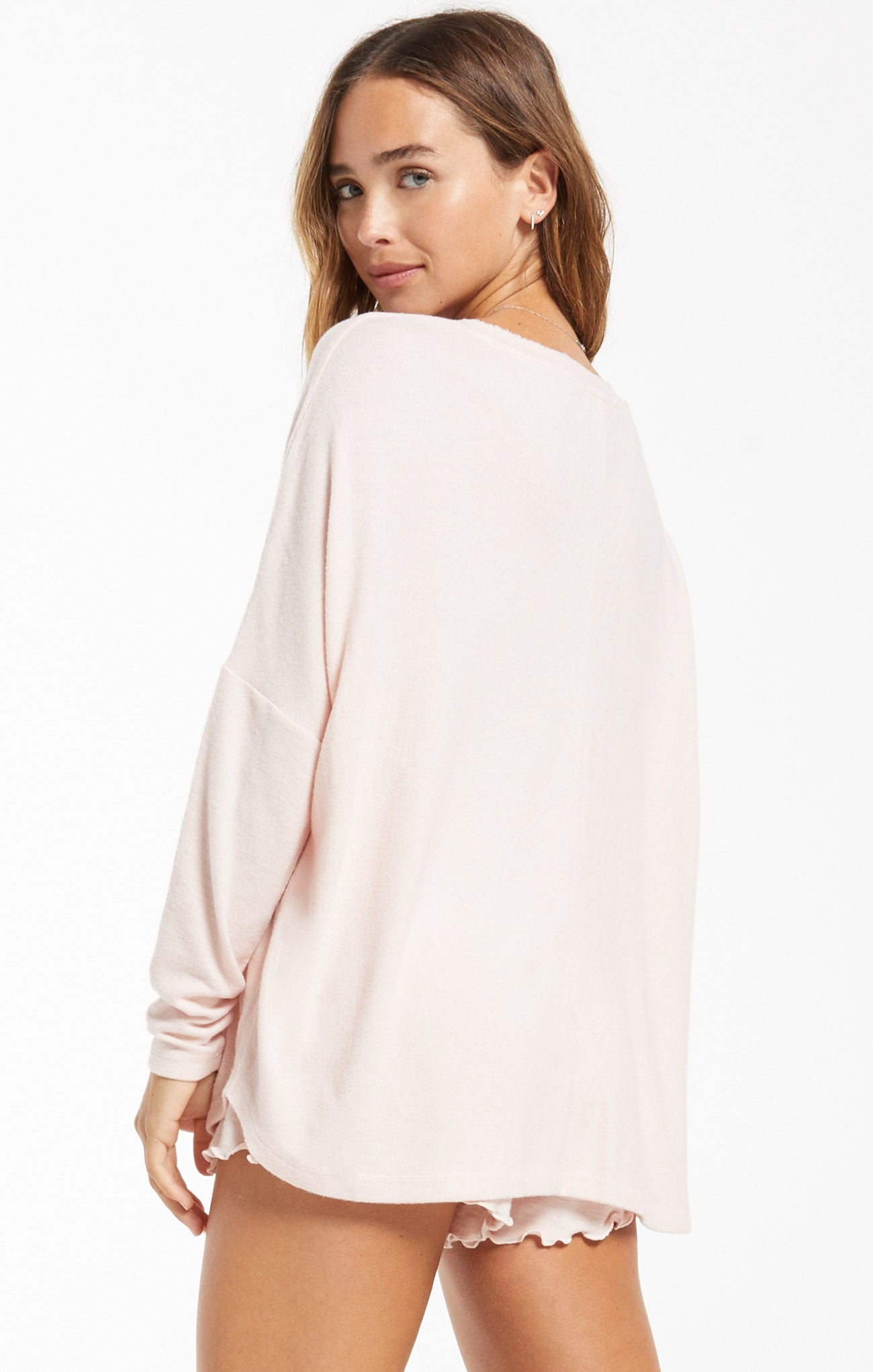 Tops Hang Out Long Sleeve Top Rose Quartz