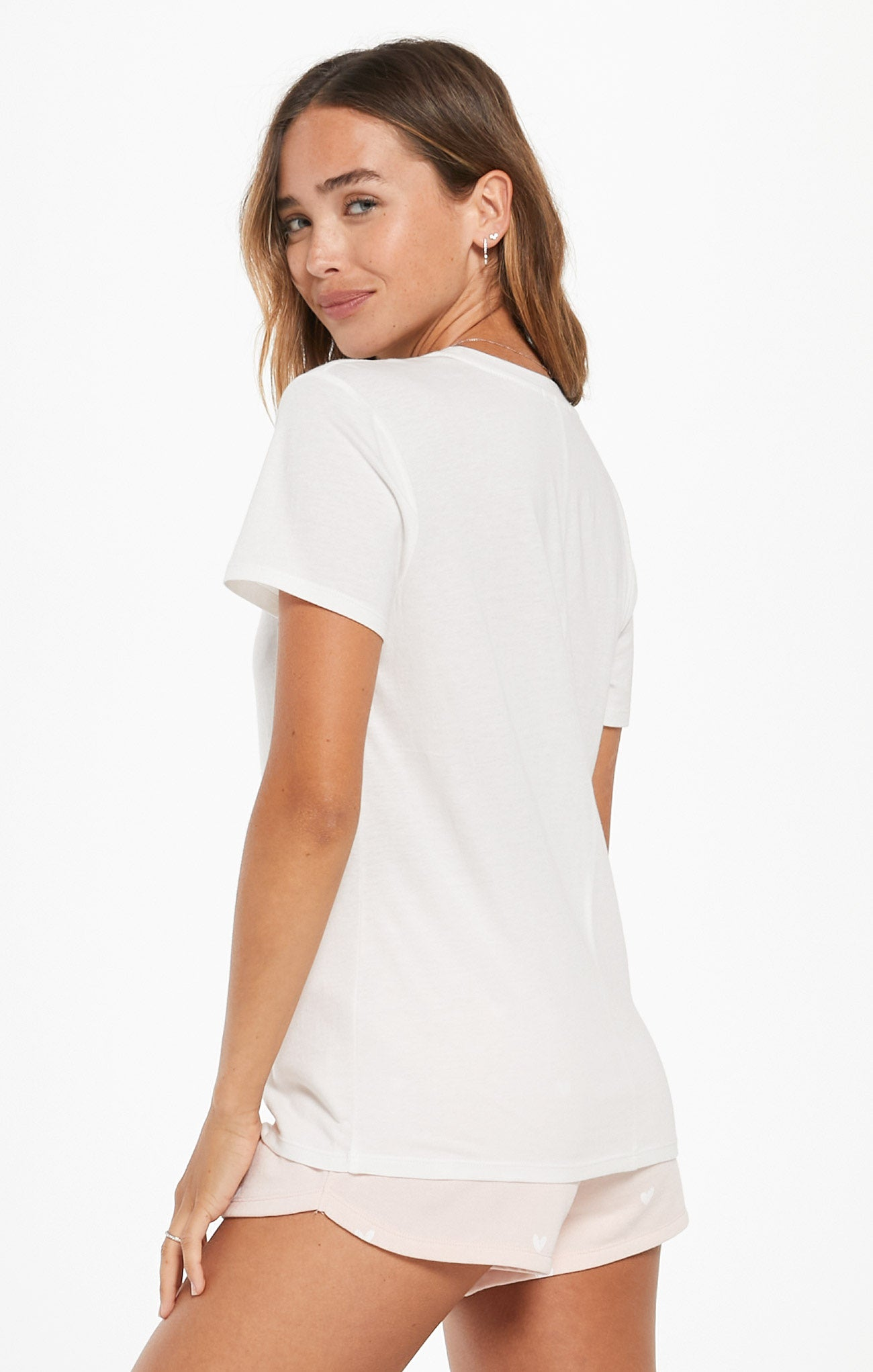 Tops Easy Bride Tee Pearl White