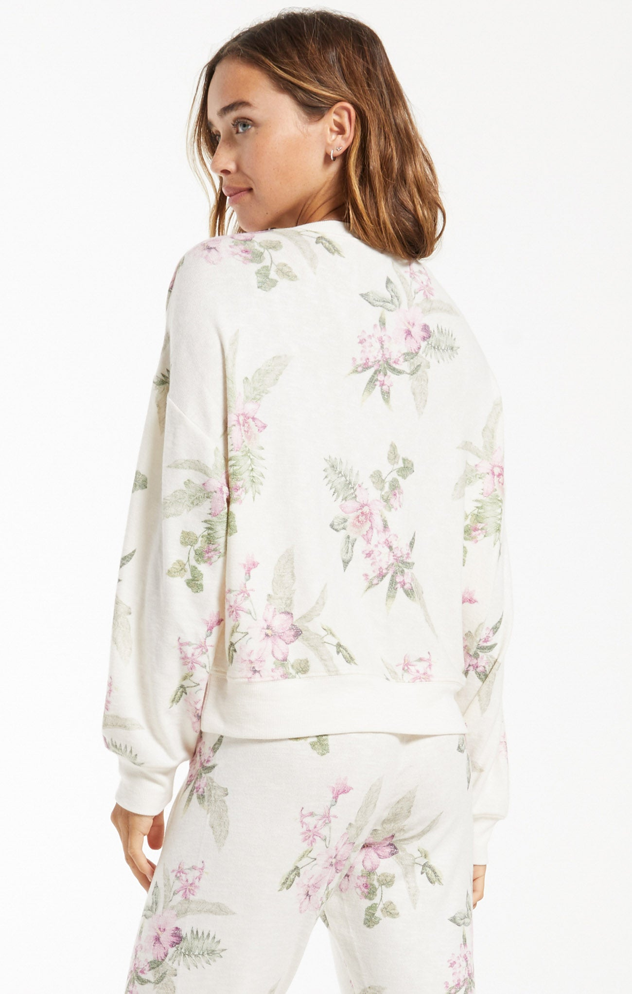 Tops Elle Garden Floral Top Bone