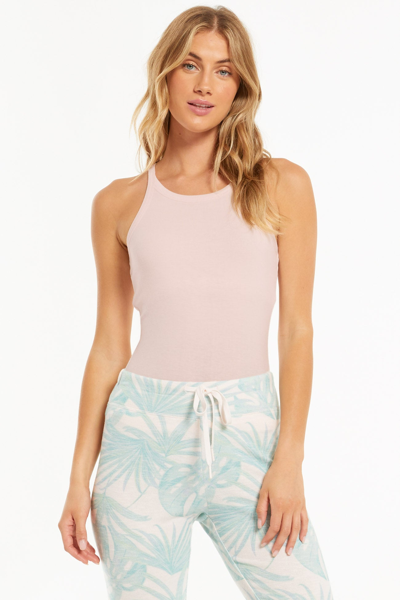 Tops Layer Up Rib Tank Pink Mist