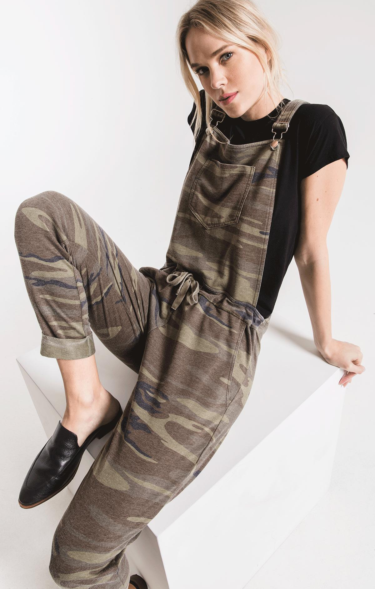 Pants The Camo Overalls Camo Green