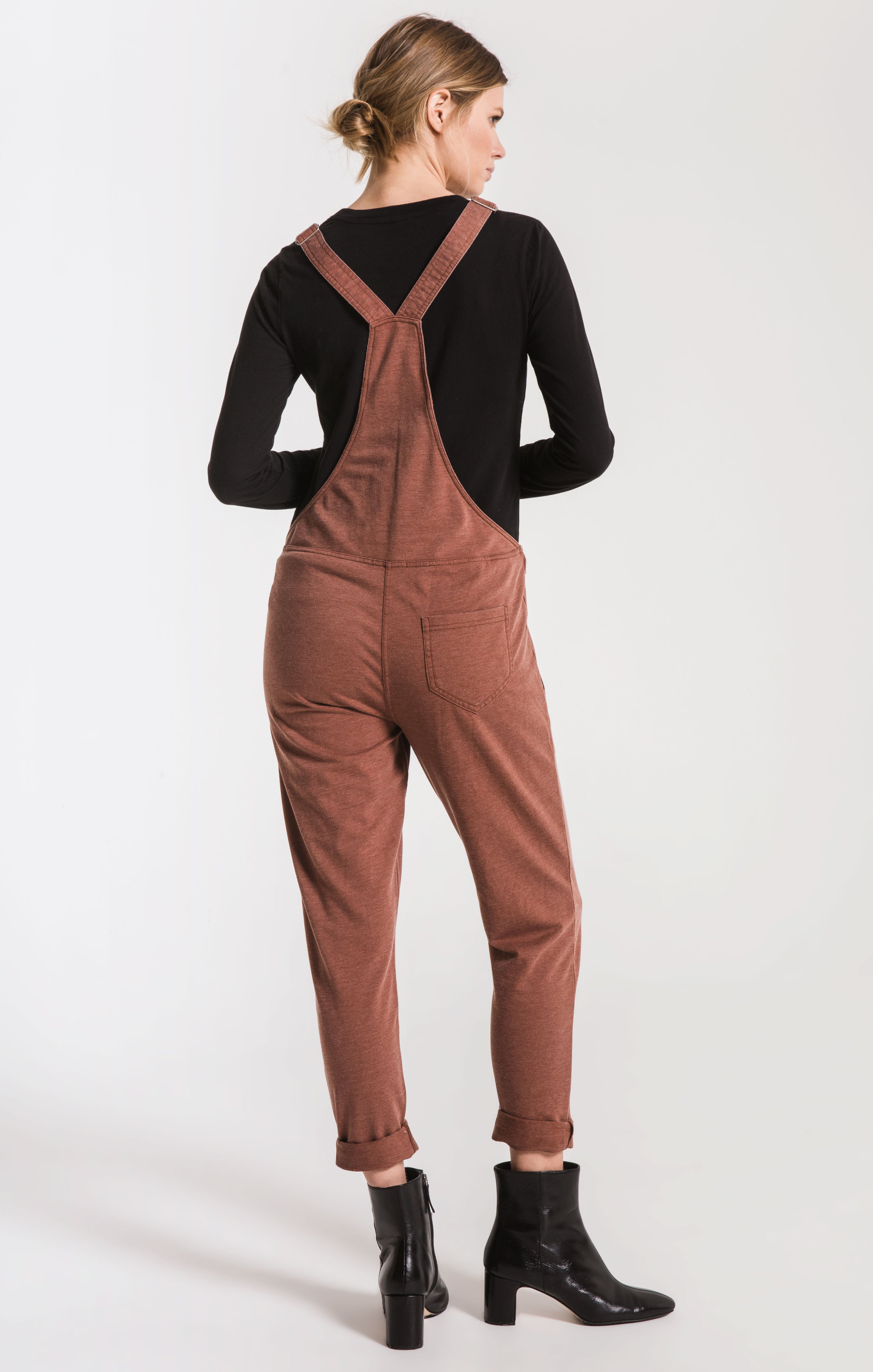 Pants French Terry Overalls Friar Brown