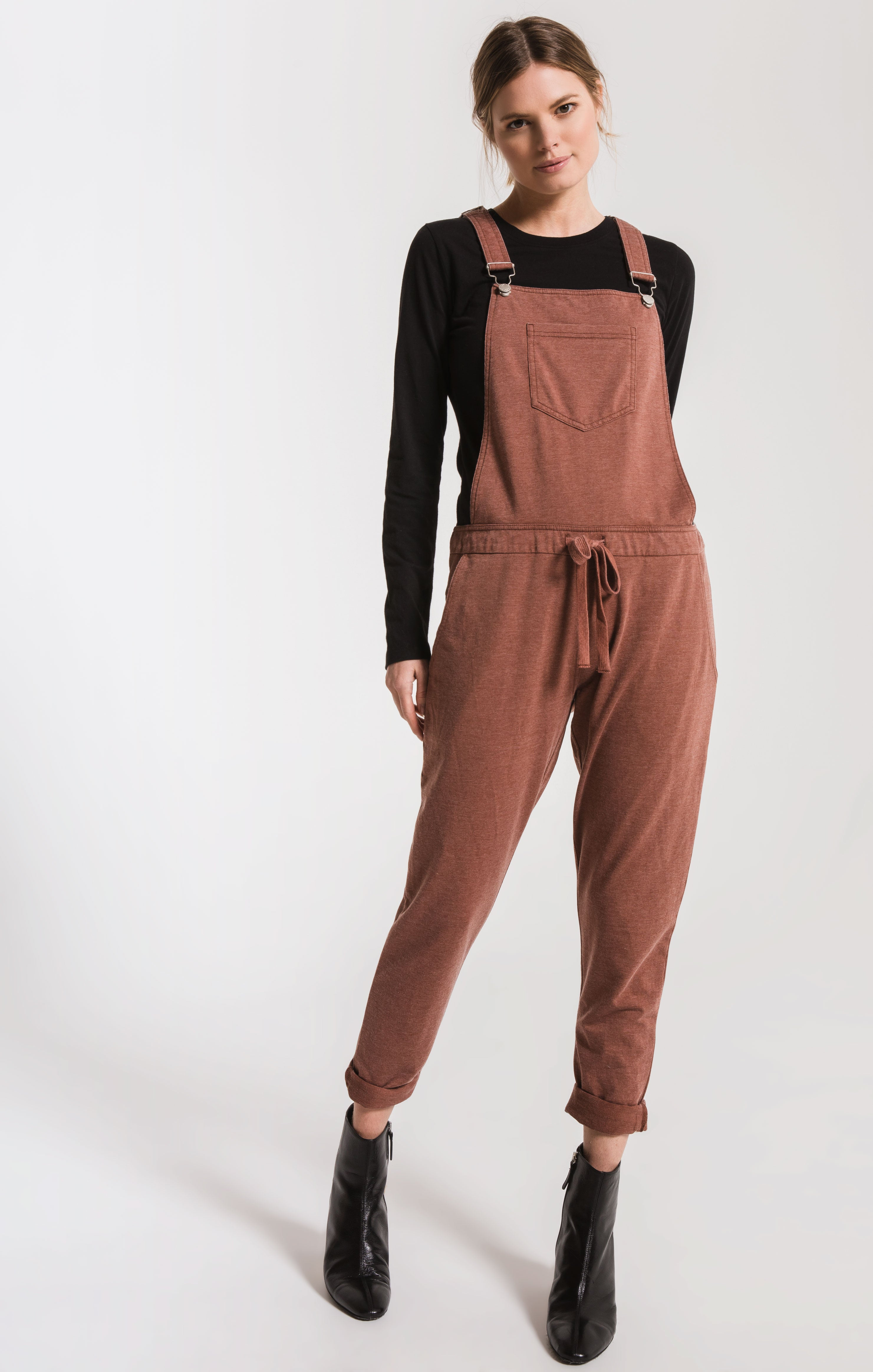 Pants The French Terry Overalls Friar Brown