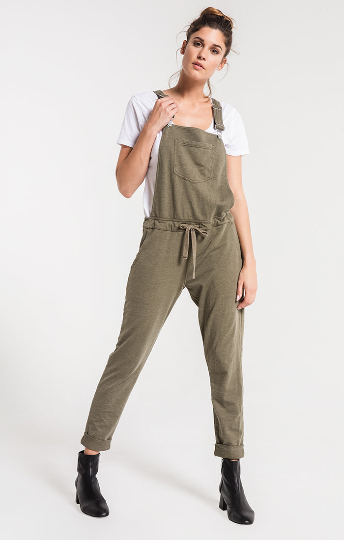 Pants The French Terry Overalls Olive Night