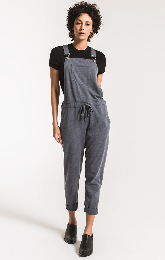 Pants The French Terry Overalls Storm Grey