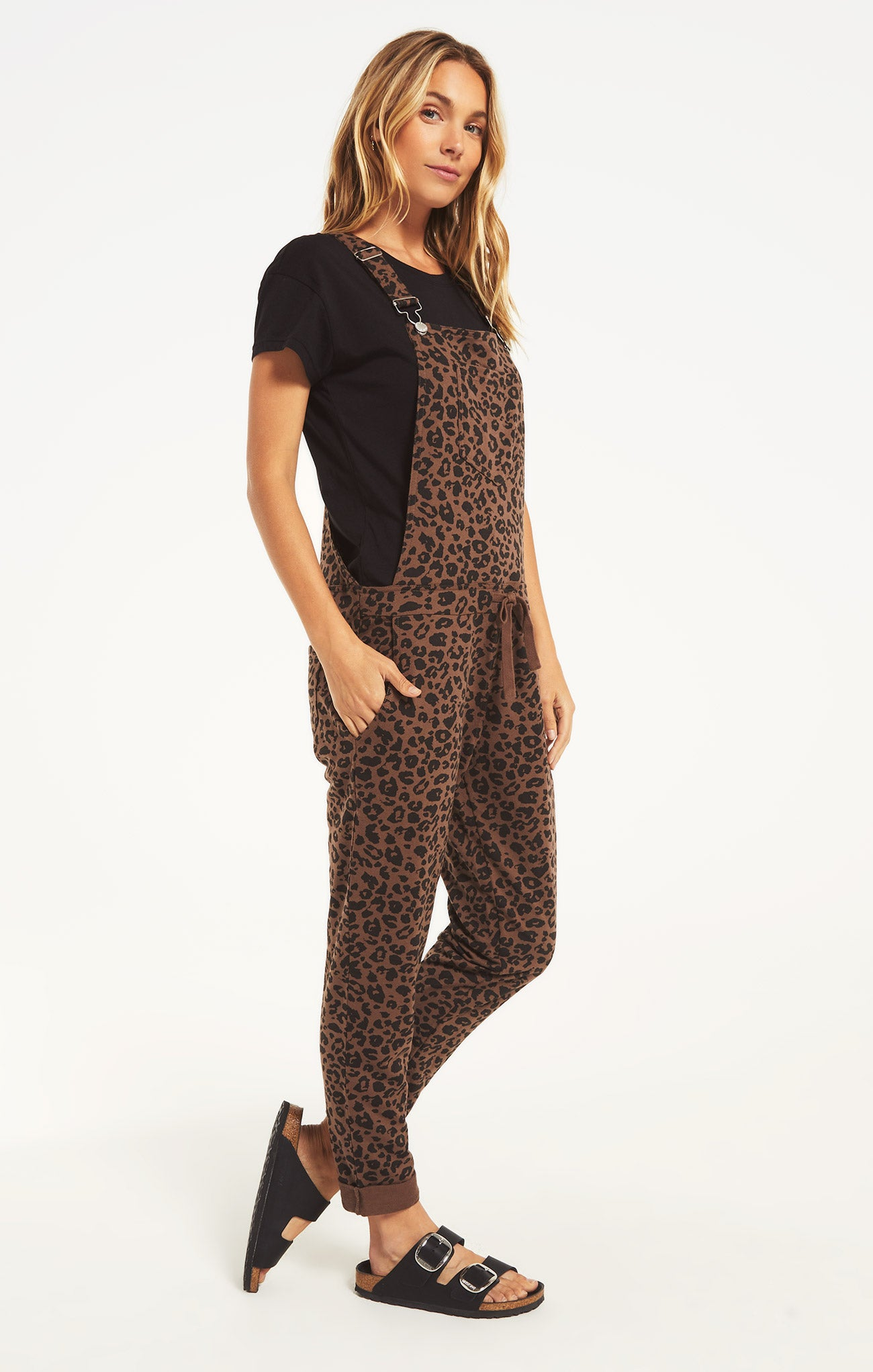 Pants Leopard Overalls French Roast