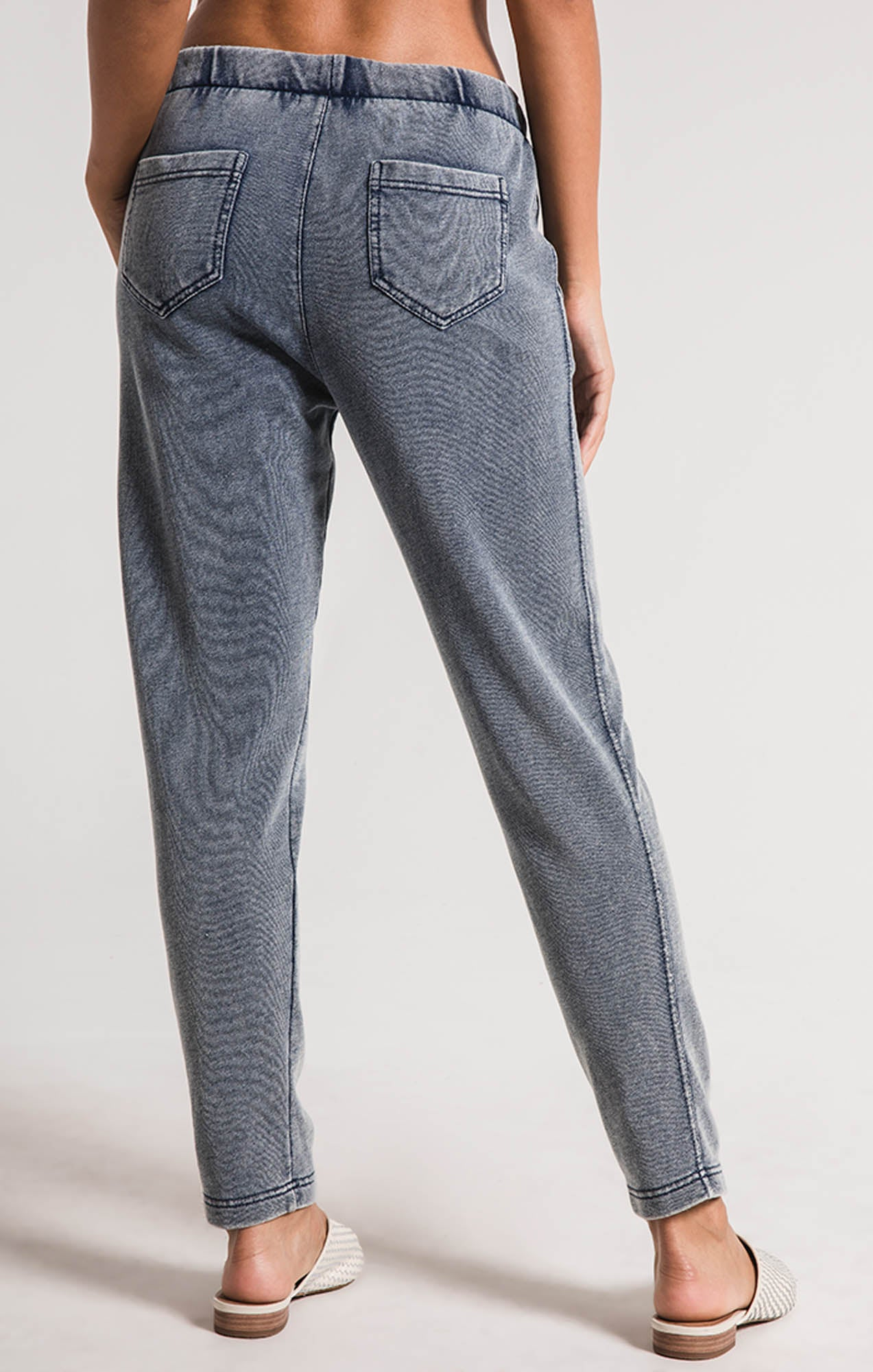 Pants The Knit Denim Jogger Indigo